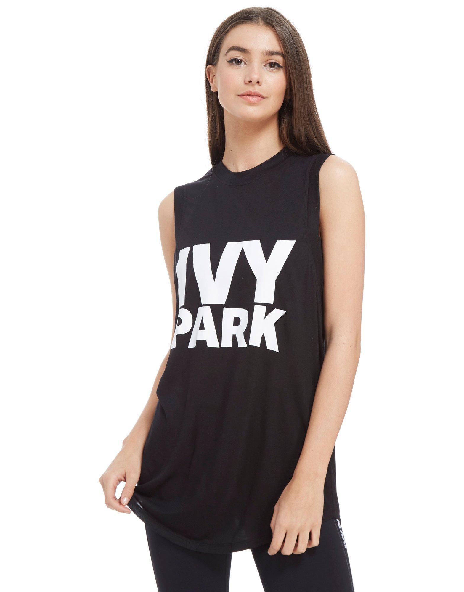 6f6eaf270f6db9 Lyst - Ivy Park Tank Top in Black