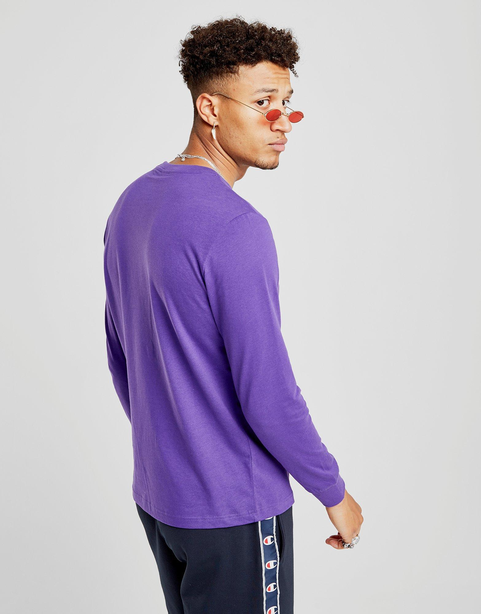 ae742065 Champion Repeat Long Sleeve T-shirt in Purple for Men - Lyst
