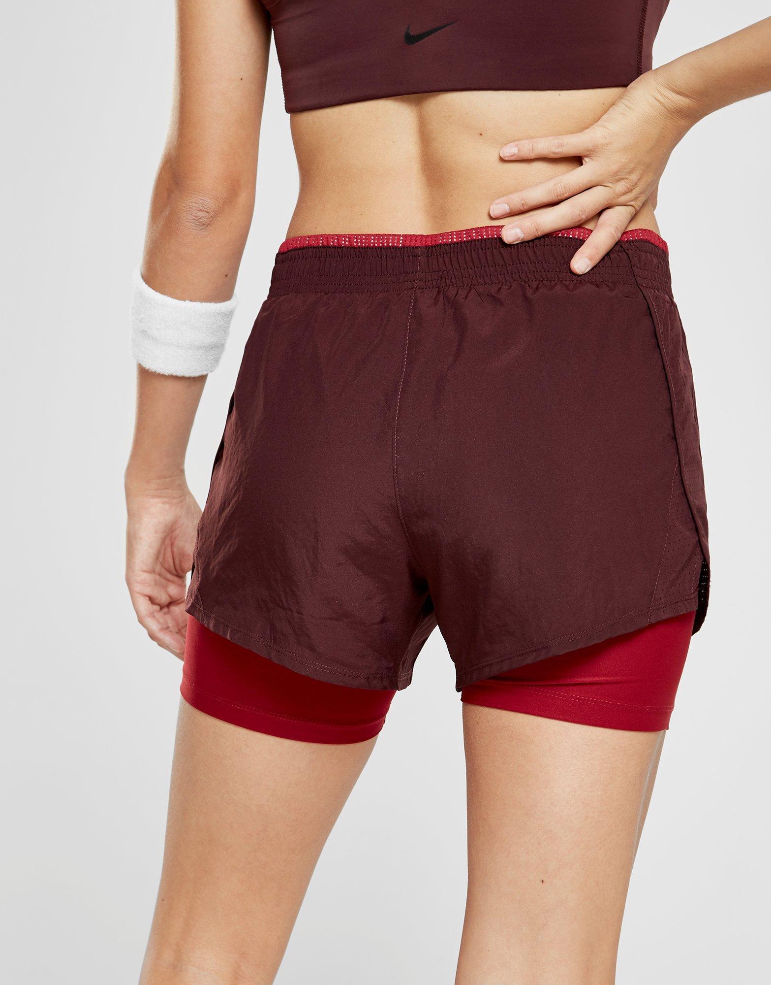 f1126117b2f Lyst - Nike Running 10k 2 In 1 Shorts in Red