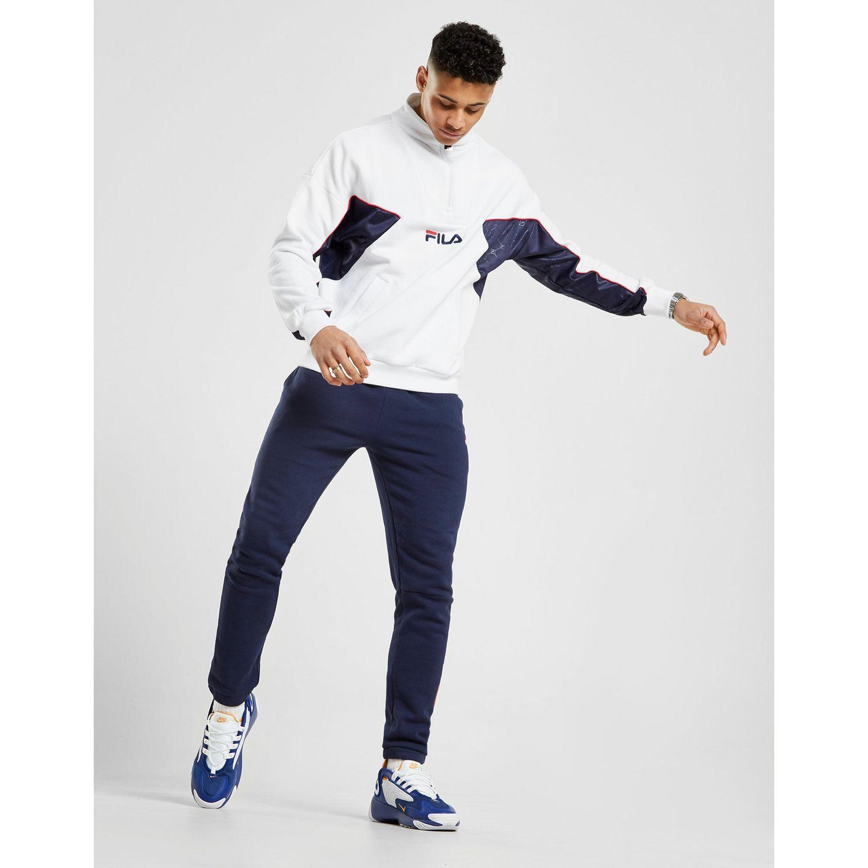 5231bfd801549 Fila - White Lag Mono 1/2 Zip Sweatshirt for Men - Lyst. View fullscreen