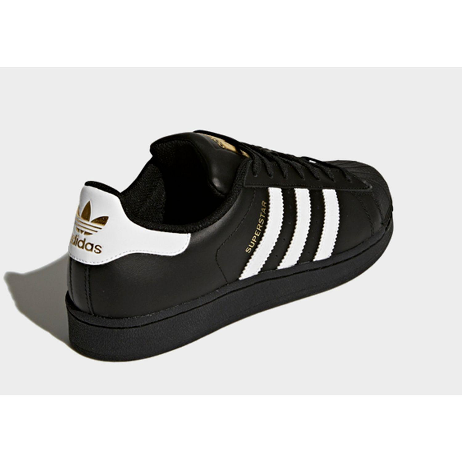 new product 3124d b2130 adidas Superstar Foundation Shoes in Black for Men - Lyst