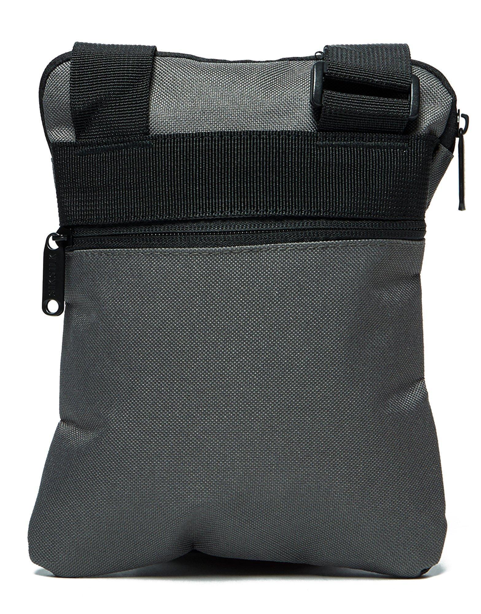 Lyst - SIKSILK Cross Body Flight Bag in Black for Men 3e084259c5262