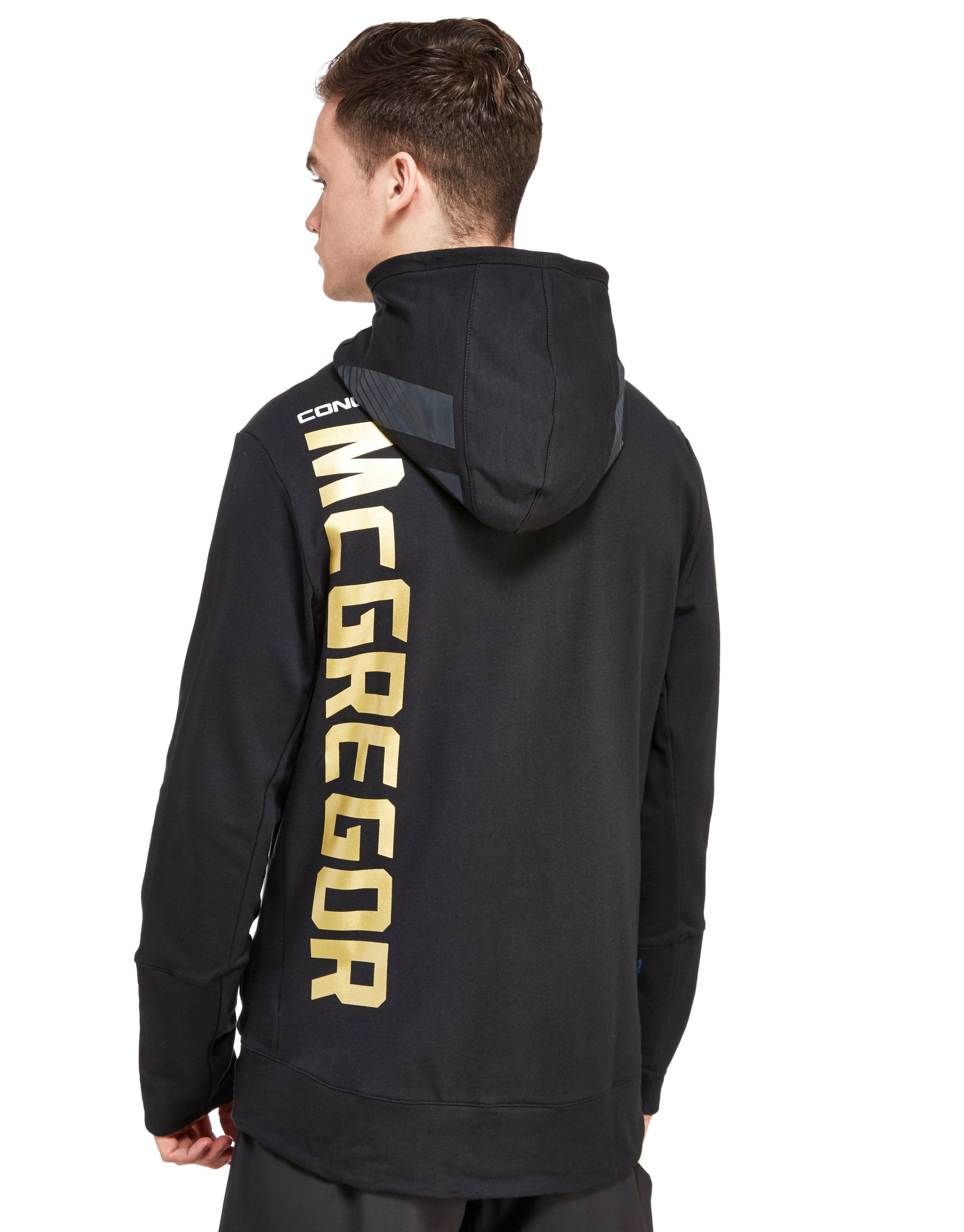 1f80689f82 Reebok Ufc Conor Mcgregor Walkout Hoody in Black for Men - Lyst