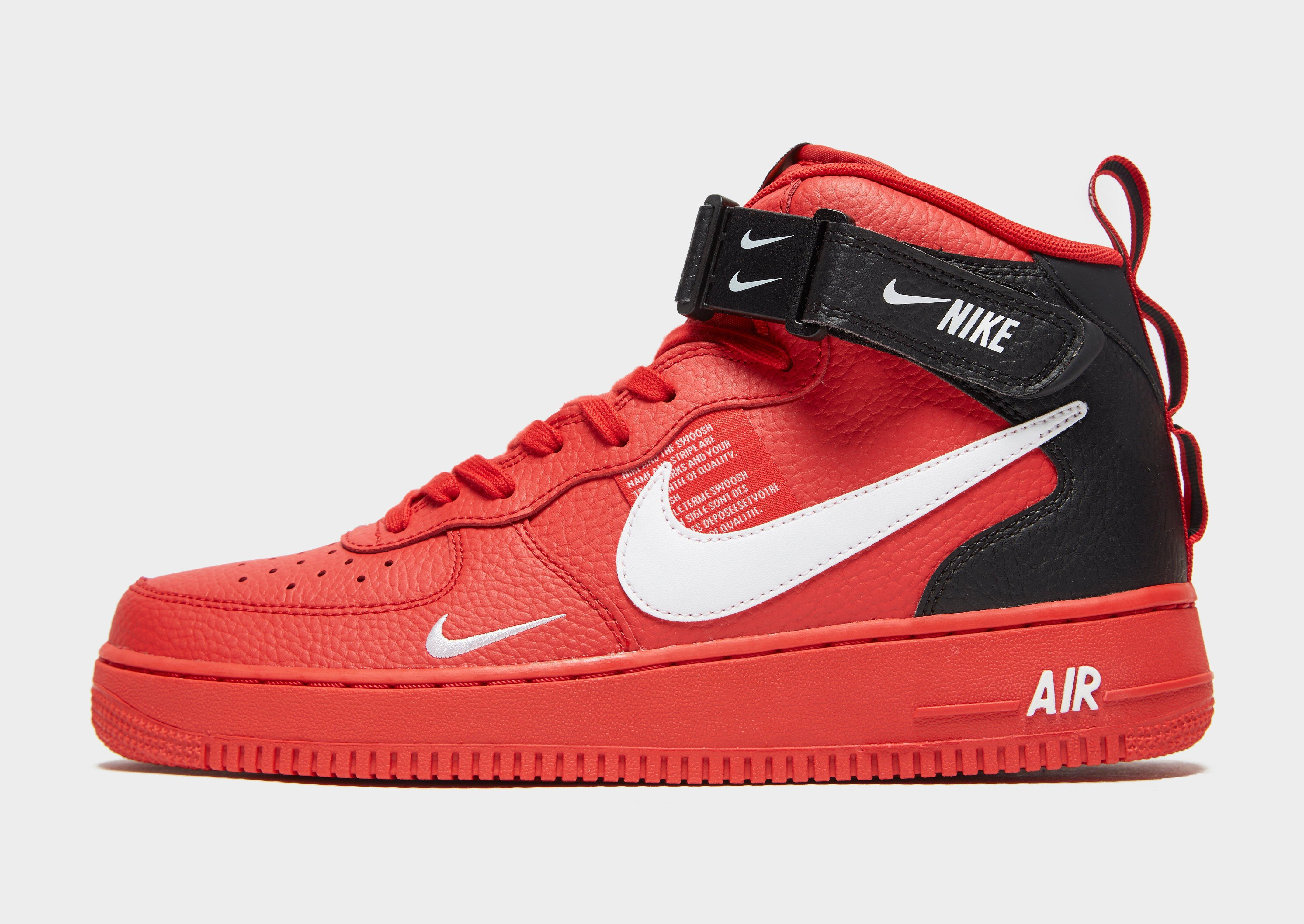 newest c2b8b 43835 Nike Air Force 1 07 Mid Lv8 Shoe in Red for Men - Lyst