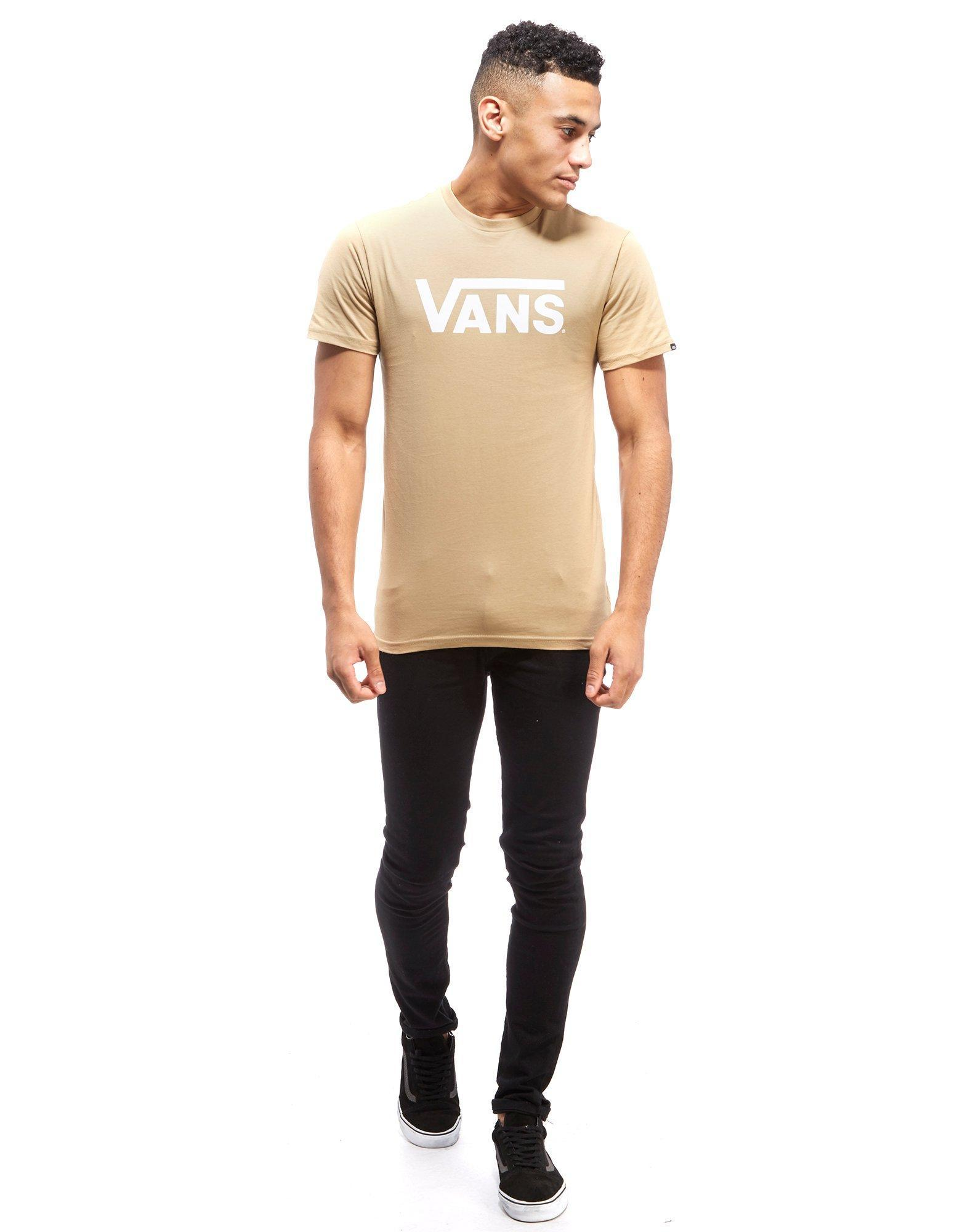 vans beige t shirt