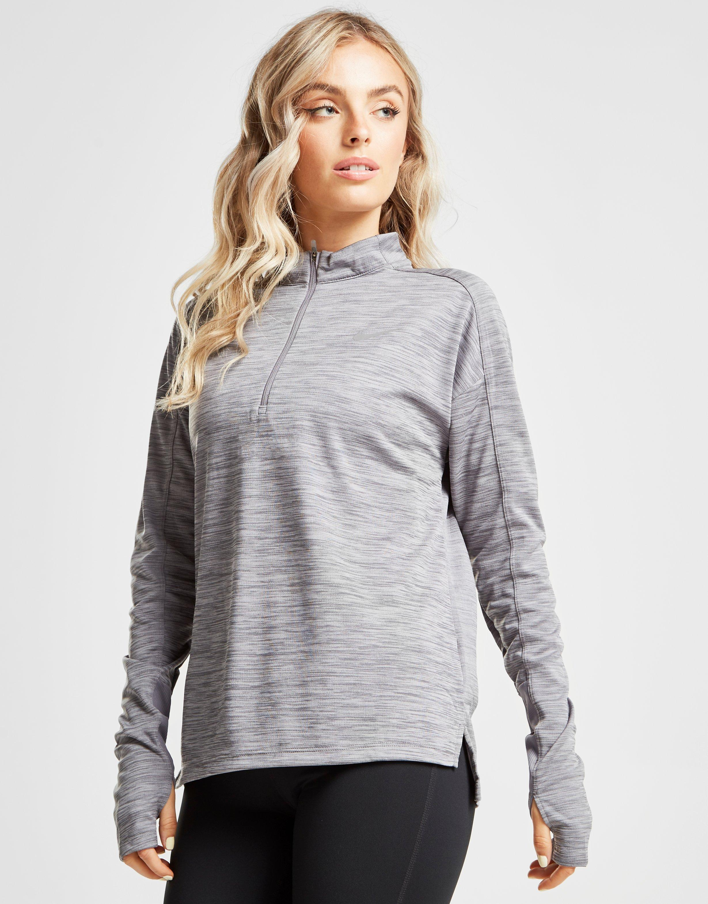 5b89380a843 Nike Running Pacer 1/4 Zip Track Top in Gray - Lyst