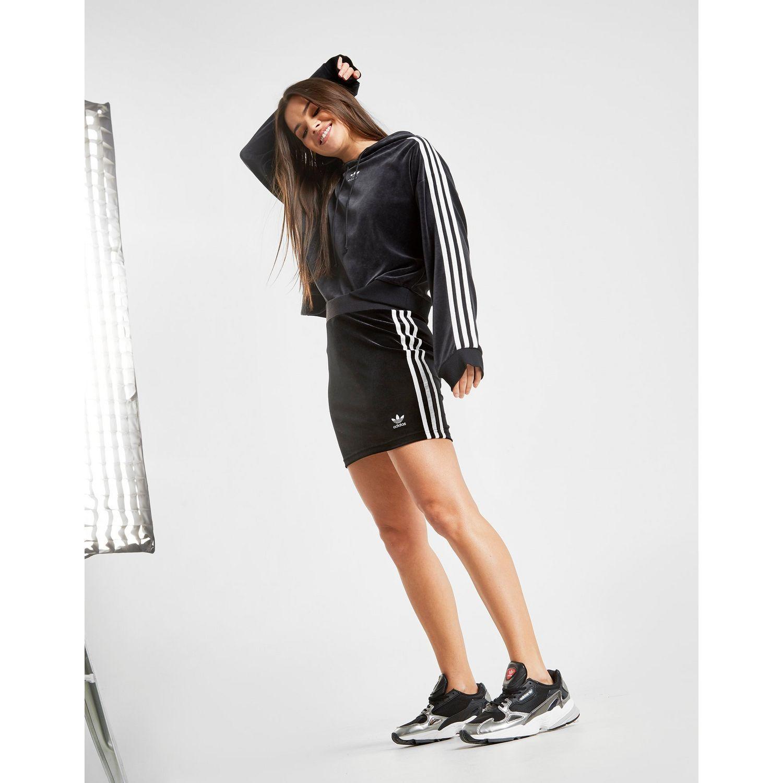sale retailer 5bf01 f0c28 adidas Originals 3-stripes Bodycon Skirt in Black - Lyst