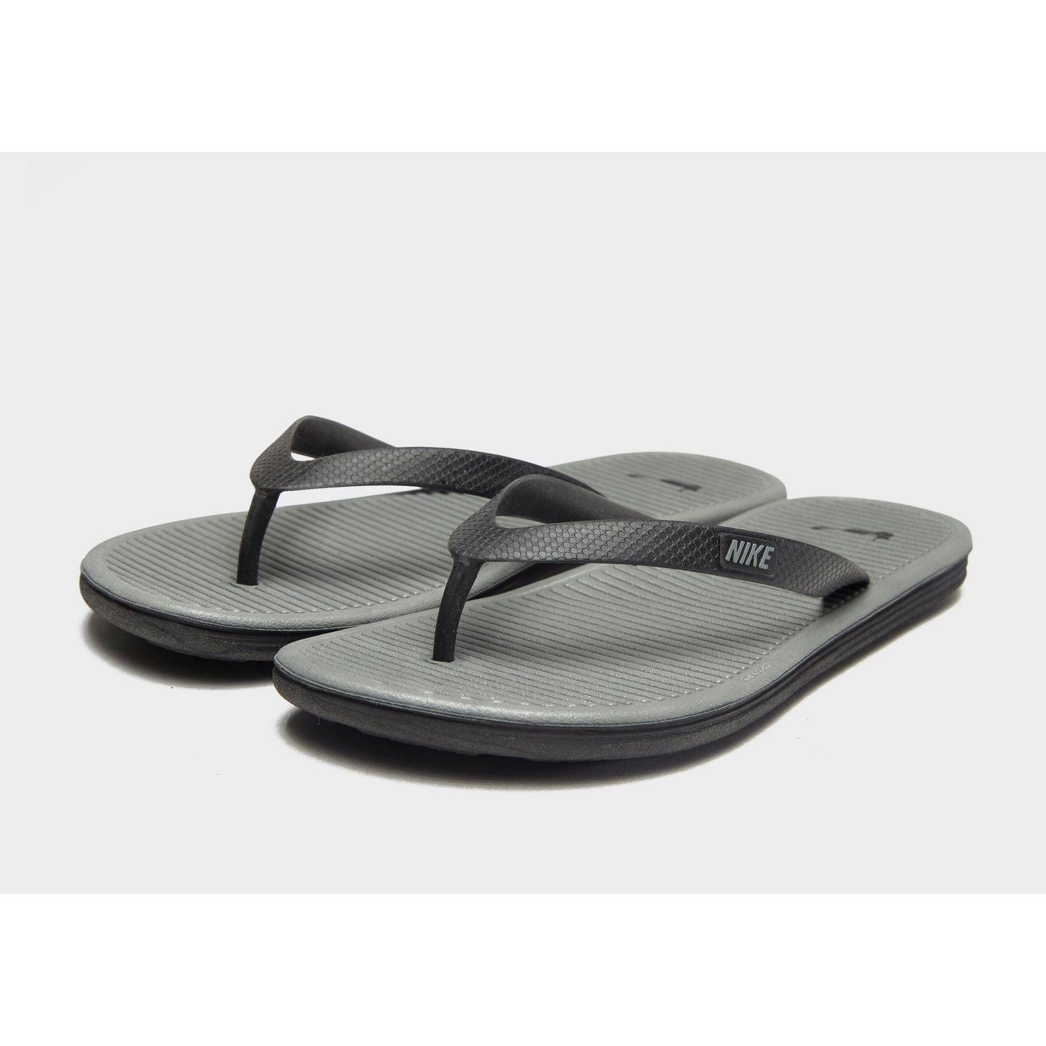 88f3e87cf29 Nike - Gray Solarsoft Ii Flip Flops for Men - Lyst. View fullscreen