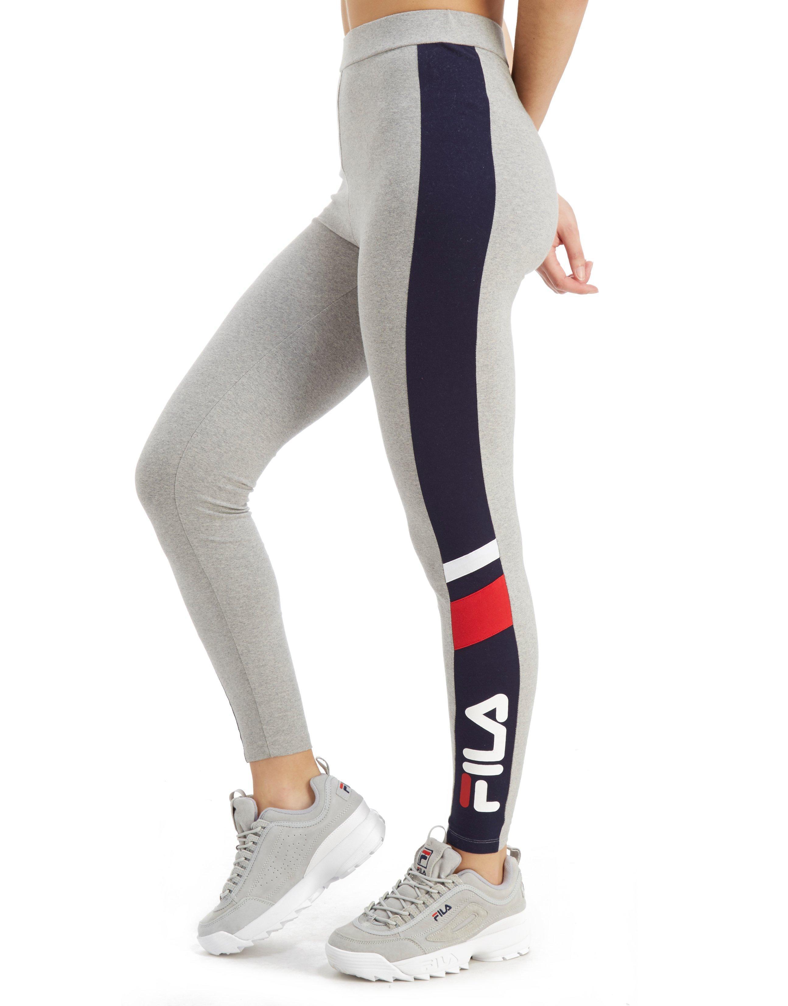 b14b1a0fe4dde Fila Panel Logo Leggings in Gray - Lyst