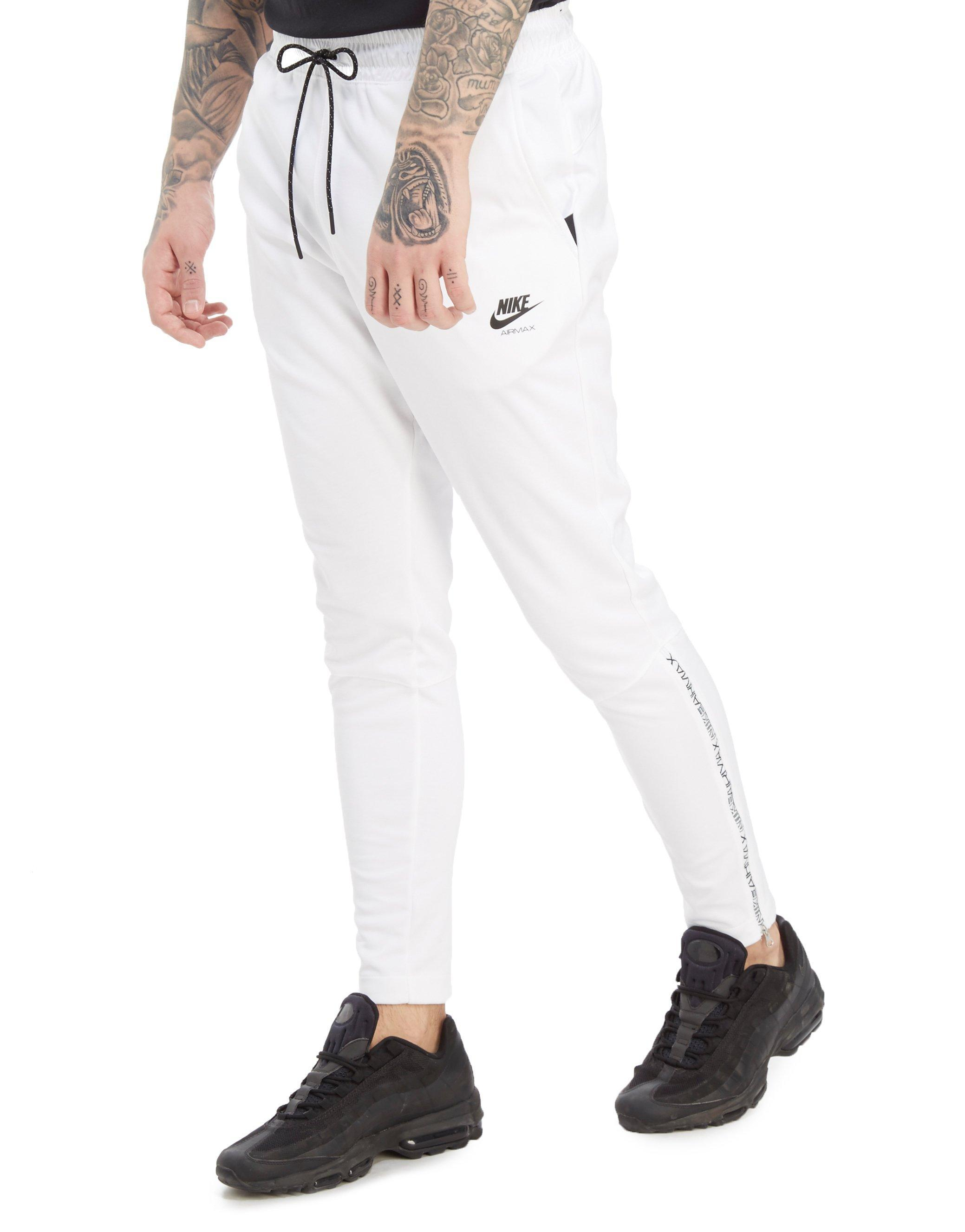 Nike. Men's White Air Max Poly Joggers