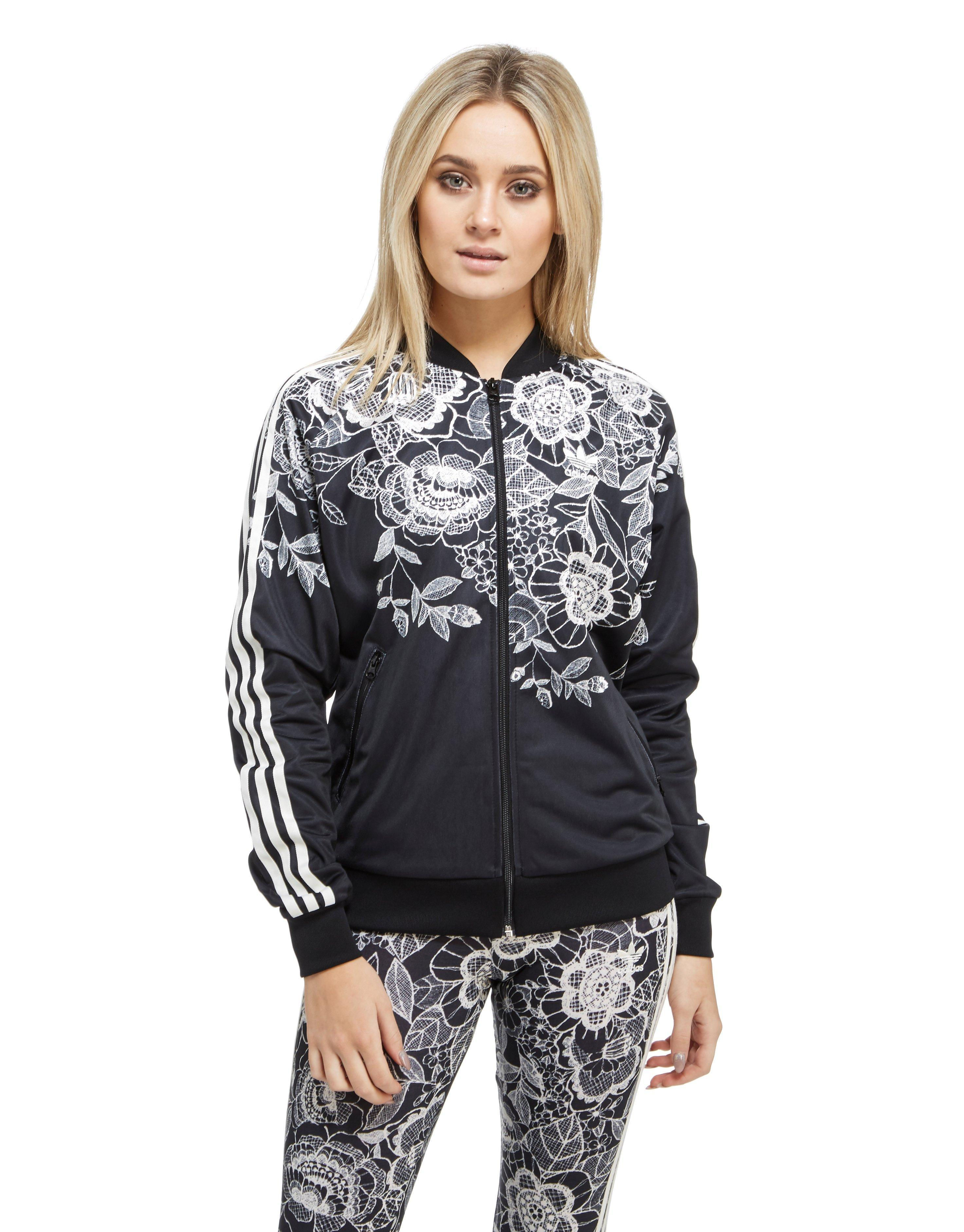 low priced 85f7f dcb11 adidas Originals Farm Florido Superstar Track Jacket in Black - Lyst