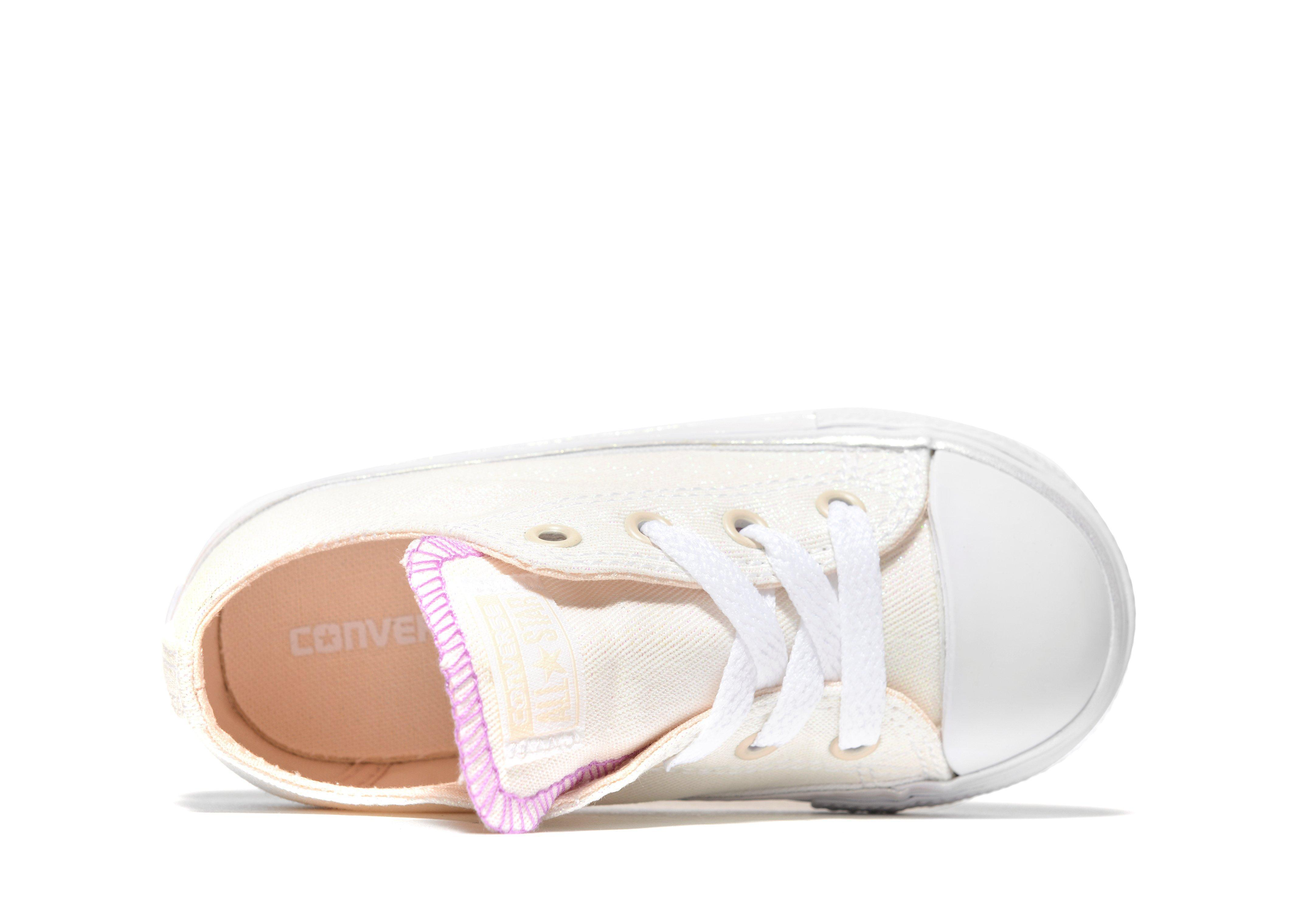 cc762154a67e Converse All Star Ox Sparkle Infant in White - Lyst