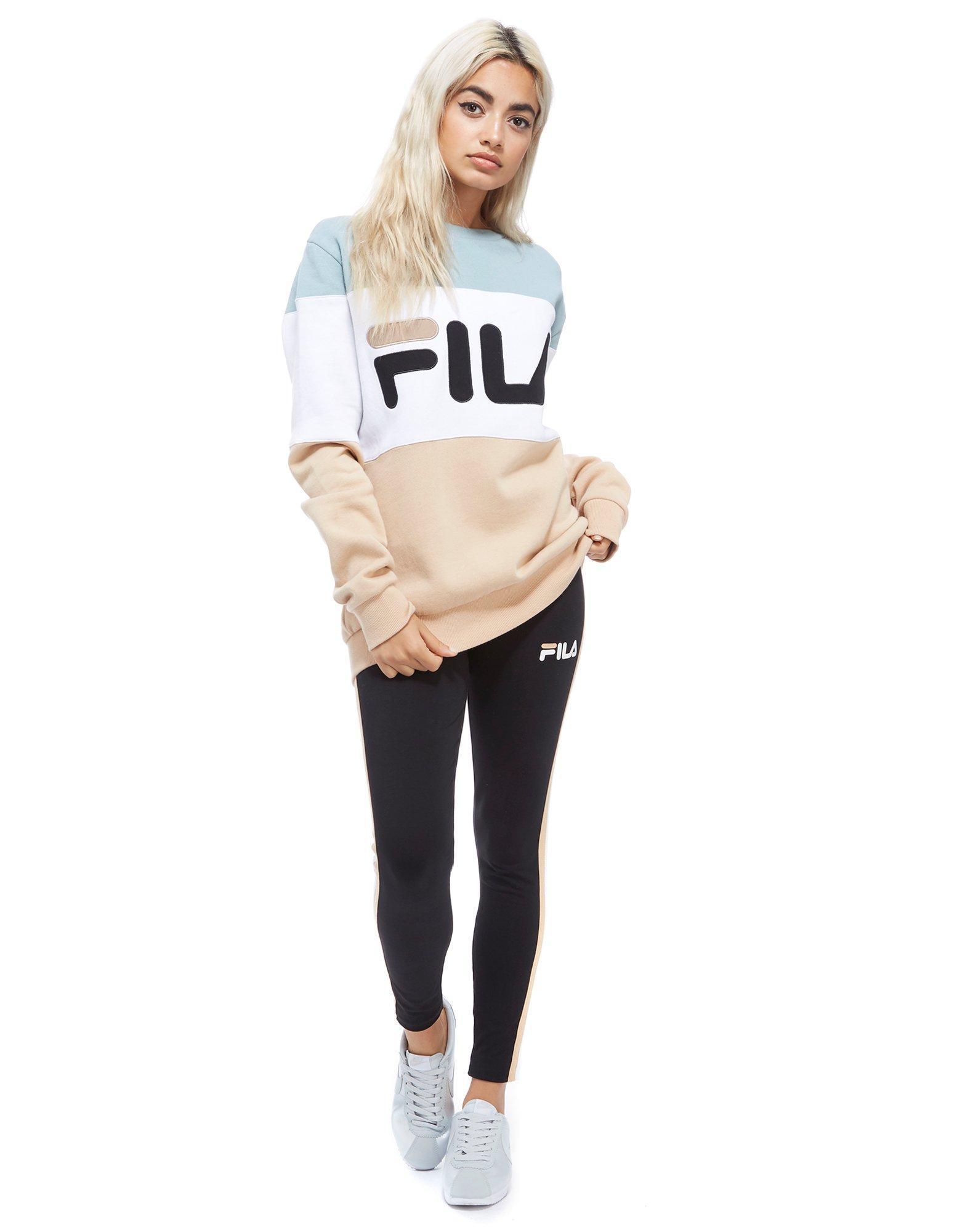 9d48a3236e9 Fila Sweatshirt in Blue - Lyst