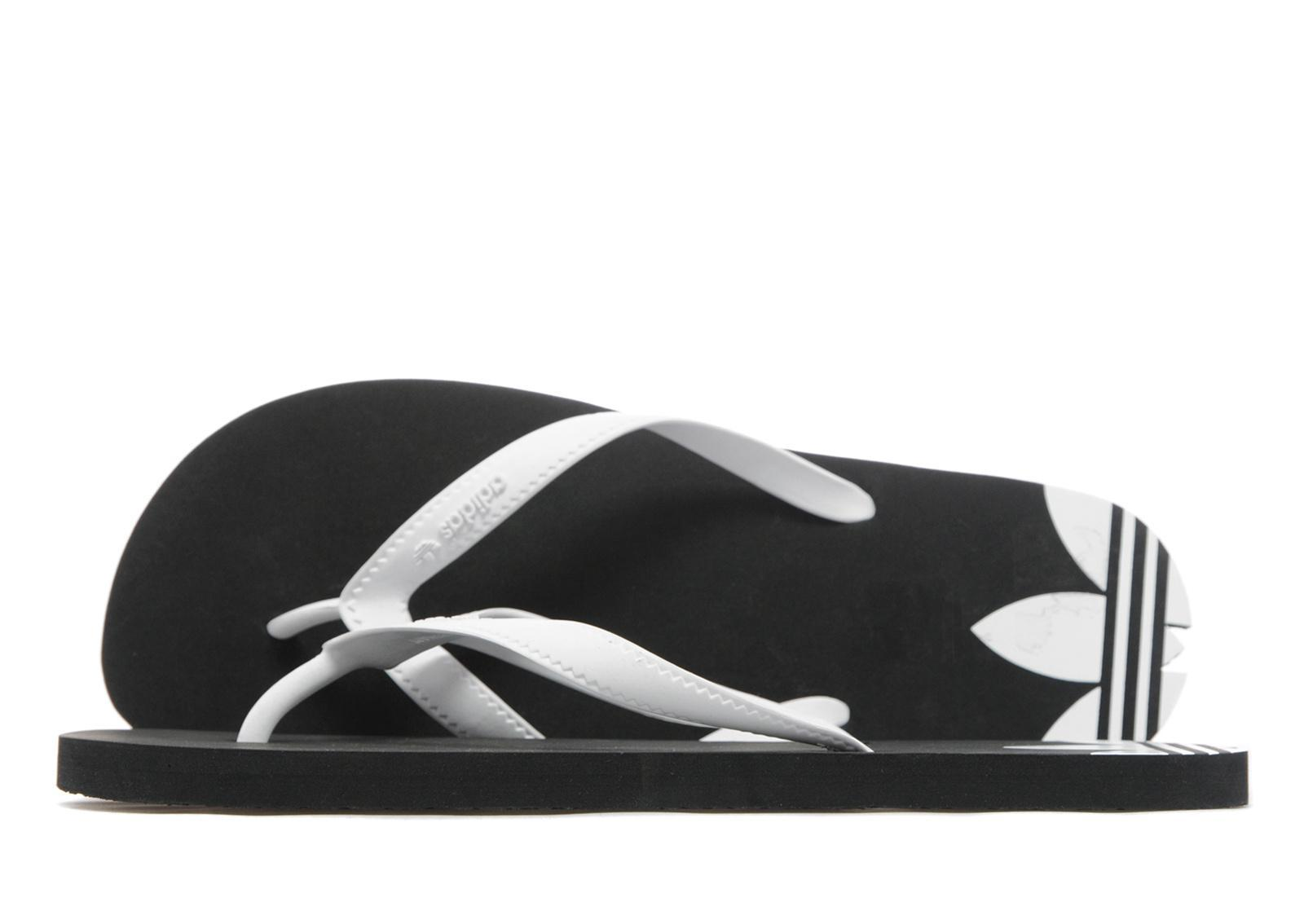 de2c3fbc1f406 Lyst - Adidas Originals Adi Sun Flip Flops in Black for Men