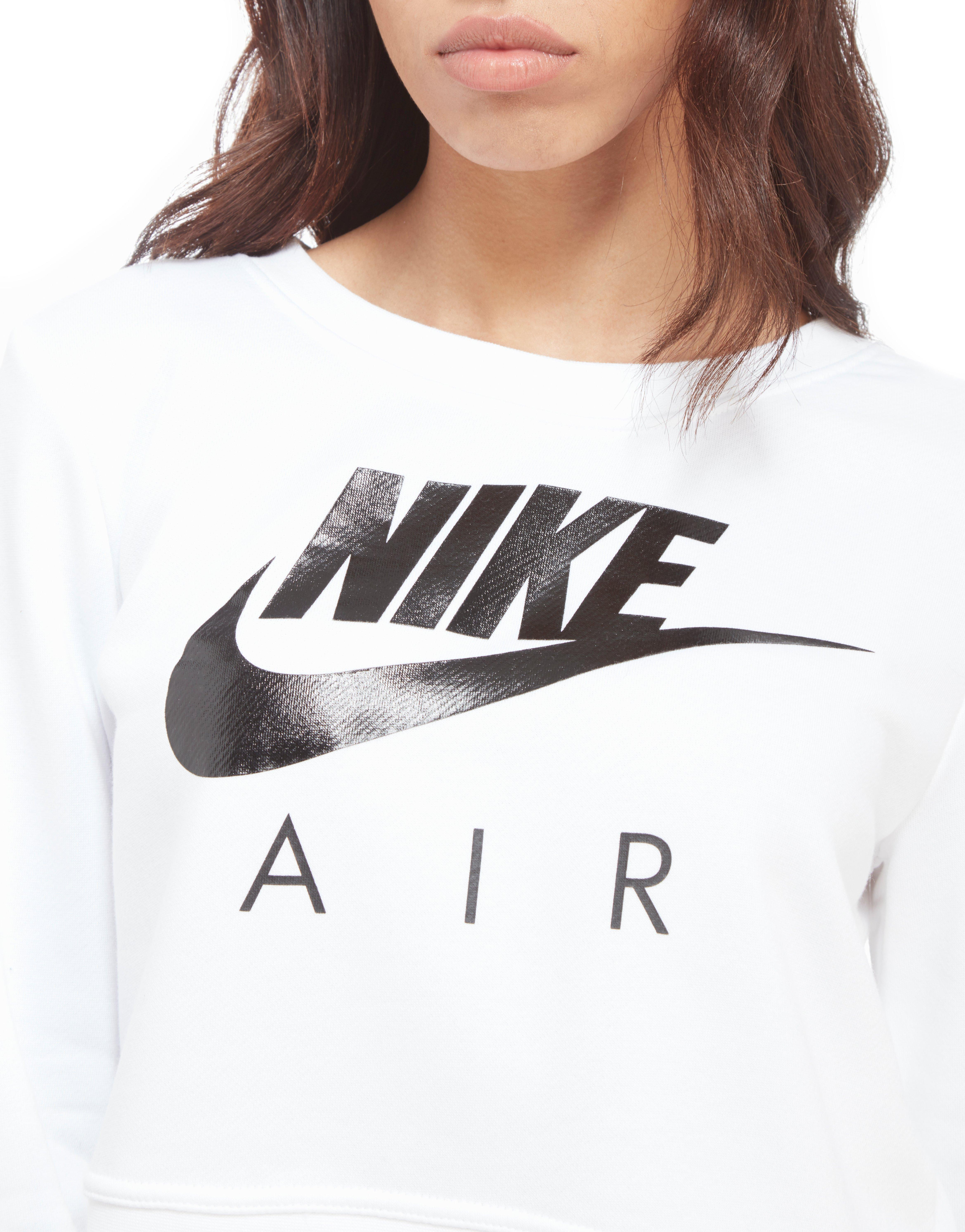 388e4e3111b08 Lyst - Nike Air Crop Crew Sweatshirt in White