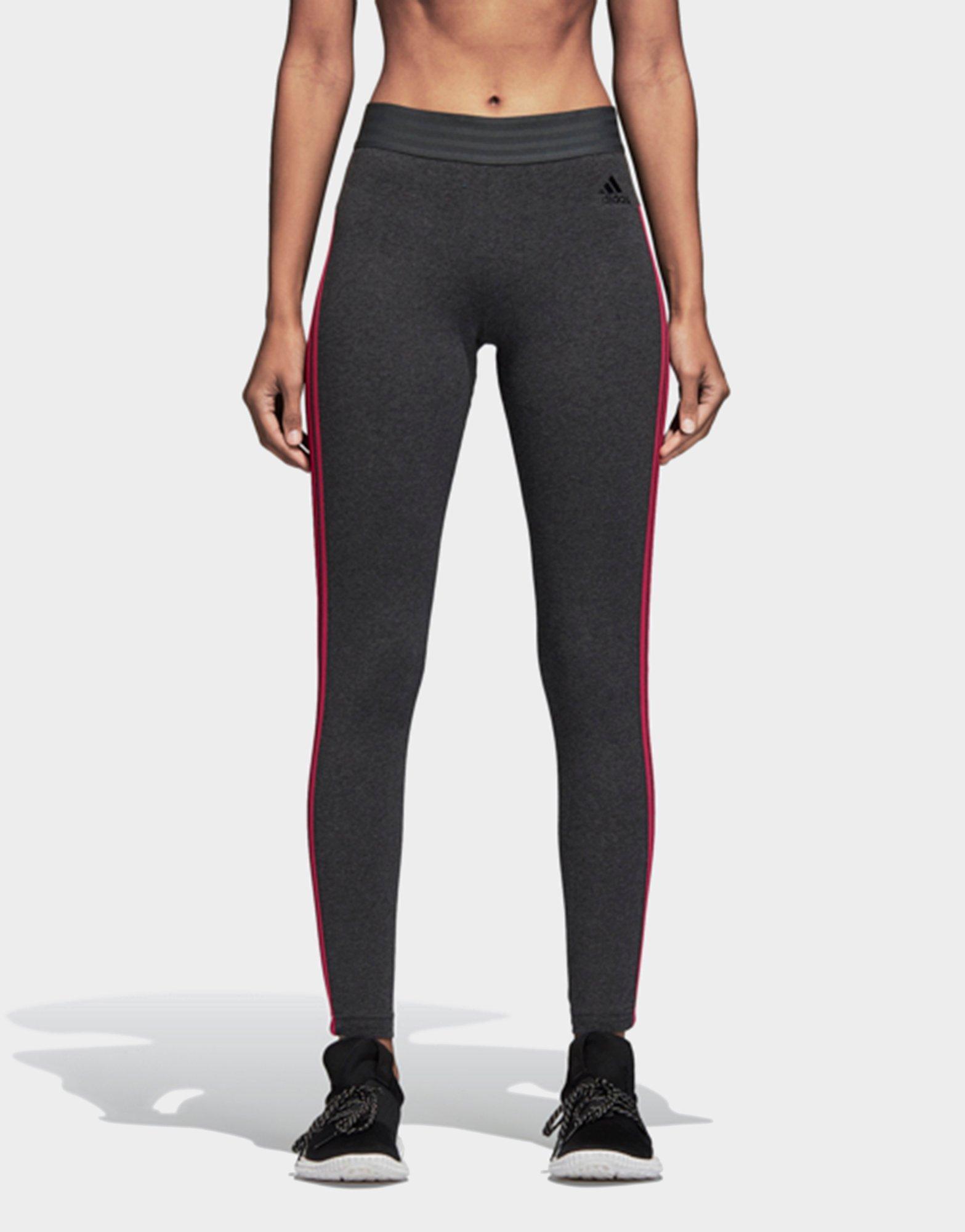 b0c240618c6fa Adidas Essentials 3 Stripes Tights in Gray - Lyst