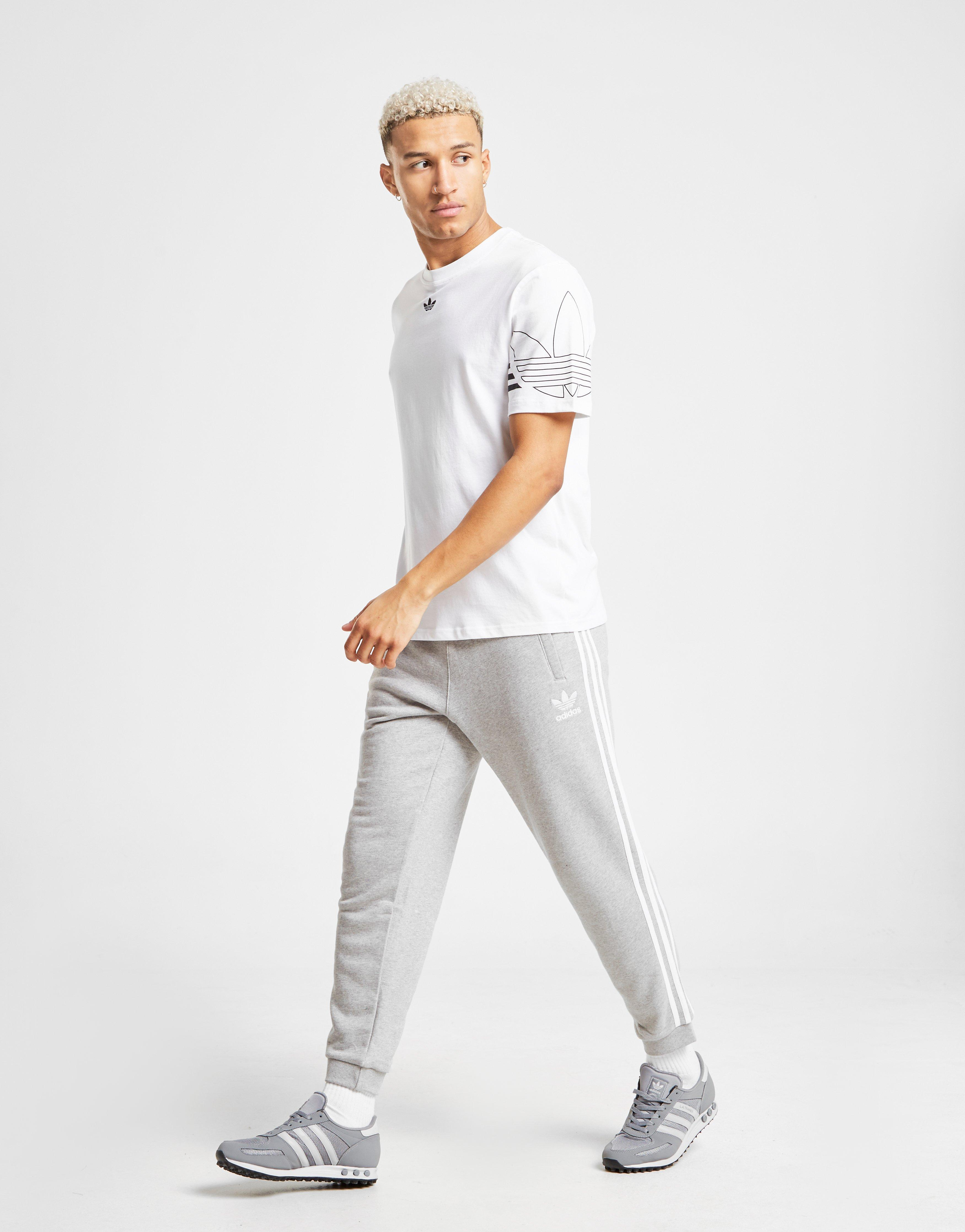 ade2aa5b809 Lyst - Adidas Originals 3-stripes Fleece Joggers in Gray for Men