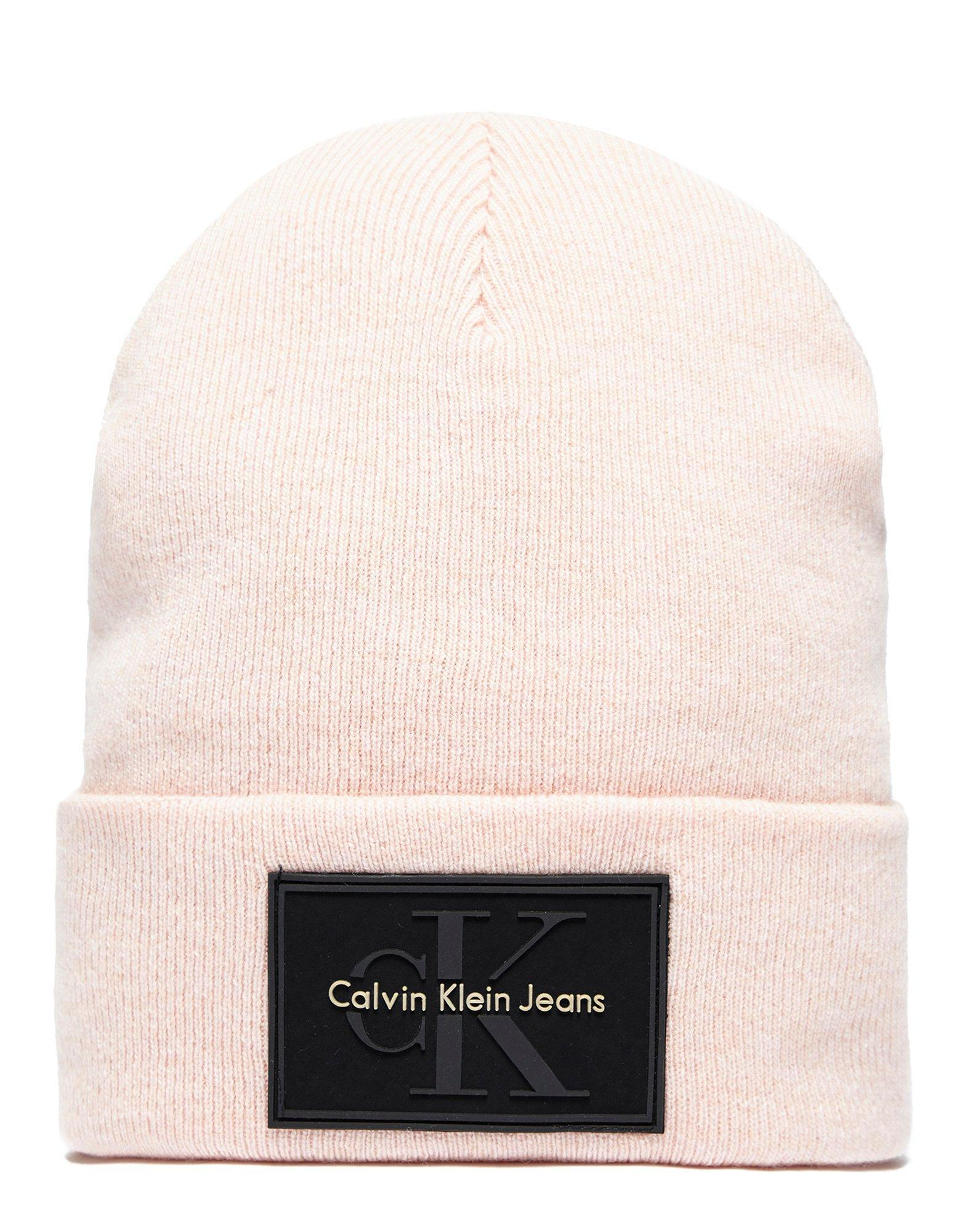 Lyst - Calvin Klein Re-issue Beanie in Pink for Men f241d6719a