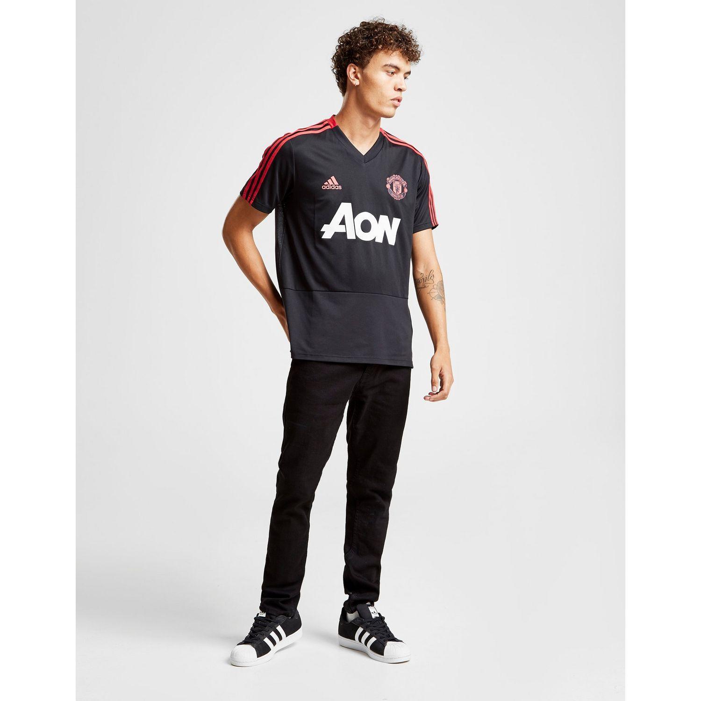 c6ff9d07f adidas Manchester United Fc Training Shirt in Black for Men - Lyst