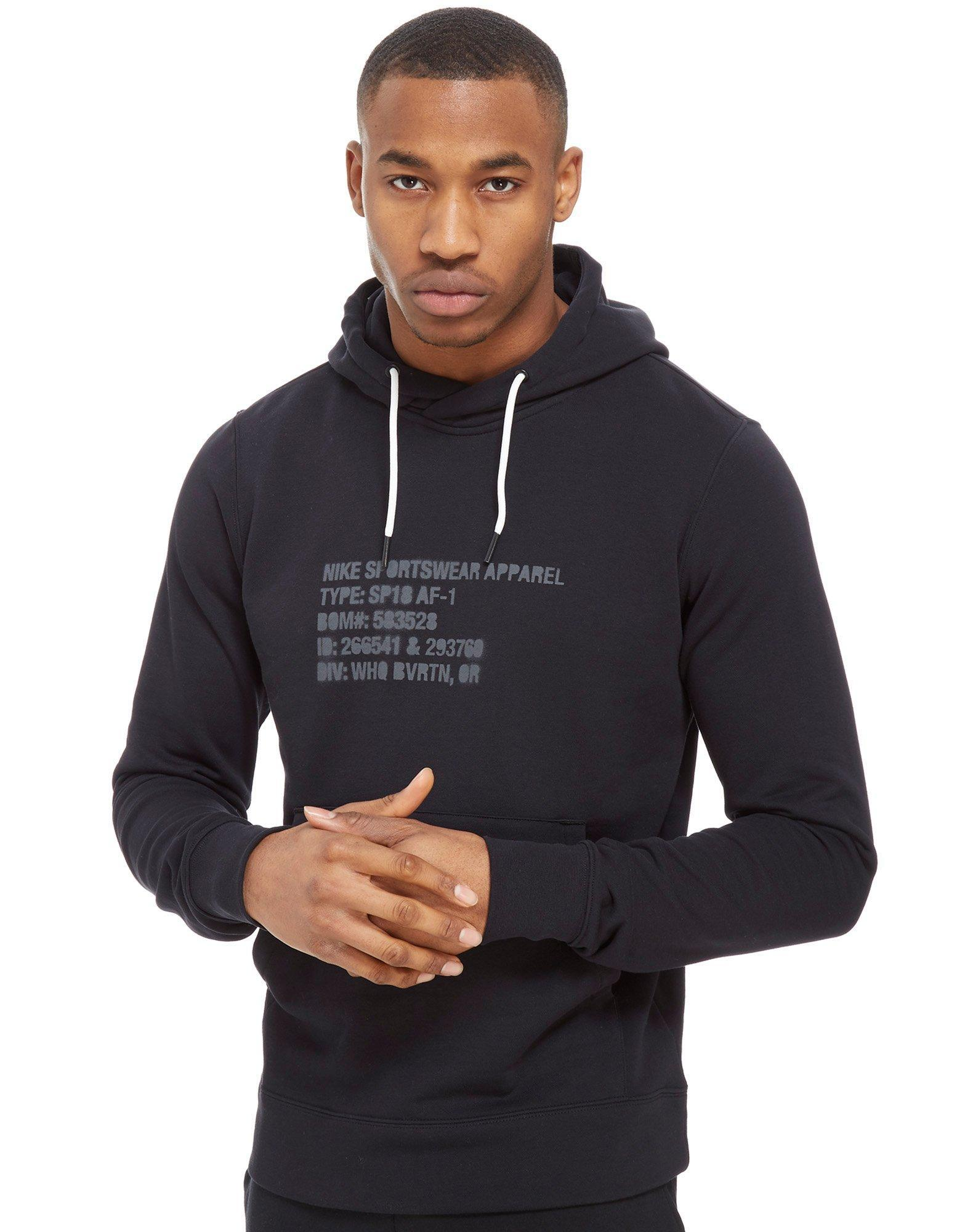 e9f14c1f Nike Air Force 1 Overhead Hoodie for Men - Lyst
