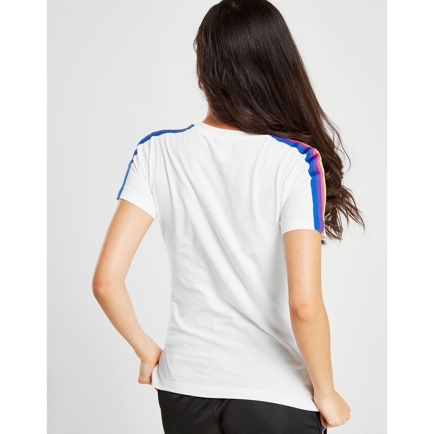 89c044ab9 Champion - White Rainbow Stripe T-shirt - Lyst. View fullscreen