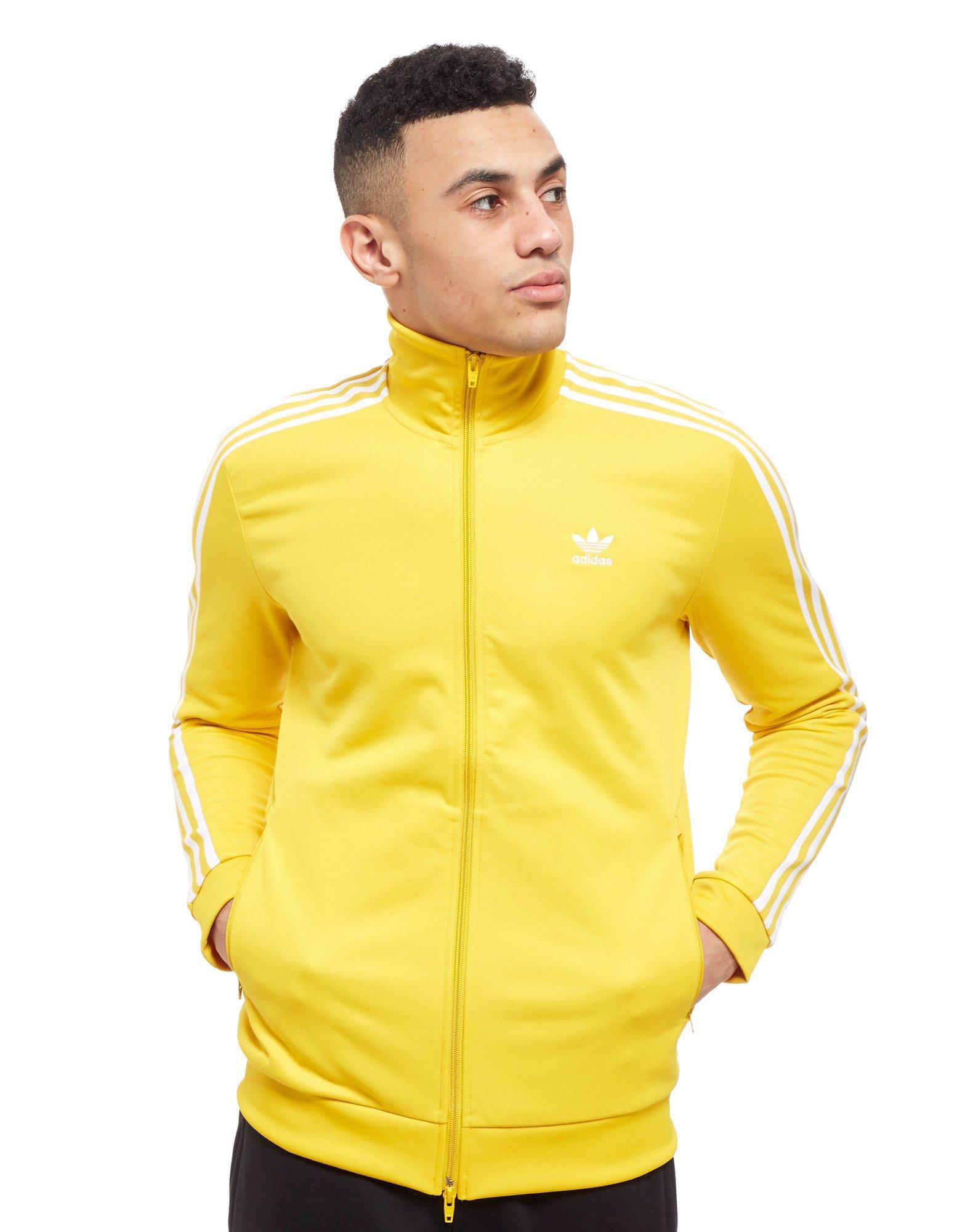 1e0ae00f562b Lyst - adidas Originals Beckenbauer Full Zip Track Top in Yellow for Men
