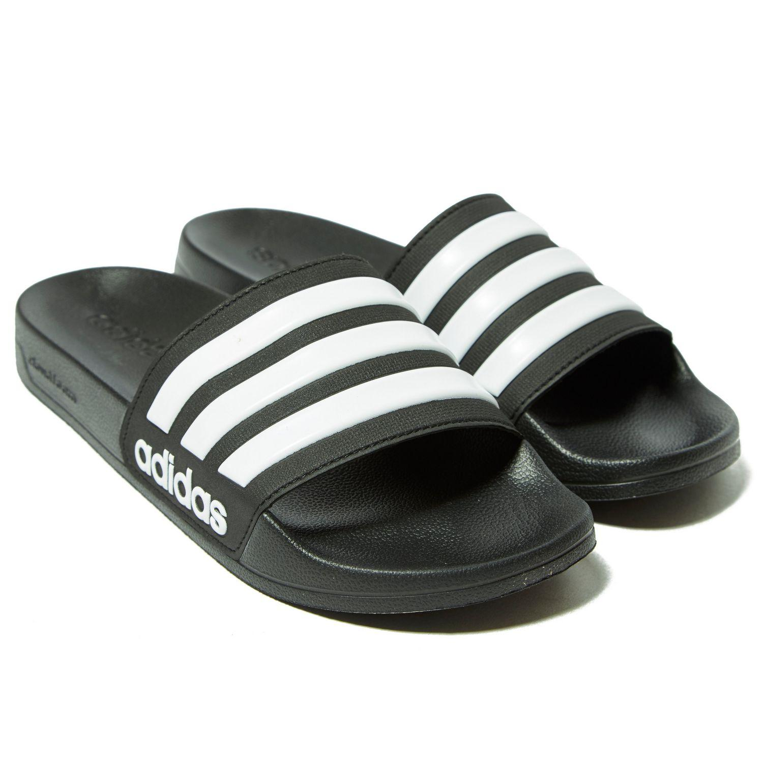 low priced 541cd 7d530 Adidas - Black Cloudfoam Adilette Slides for Men - Lyst. View fullscreen
