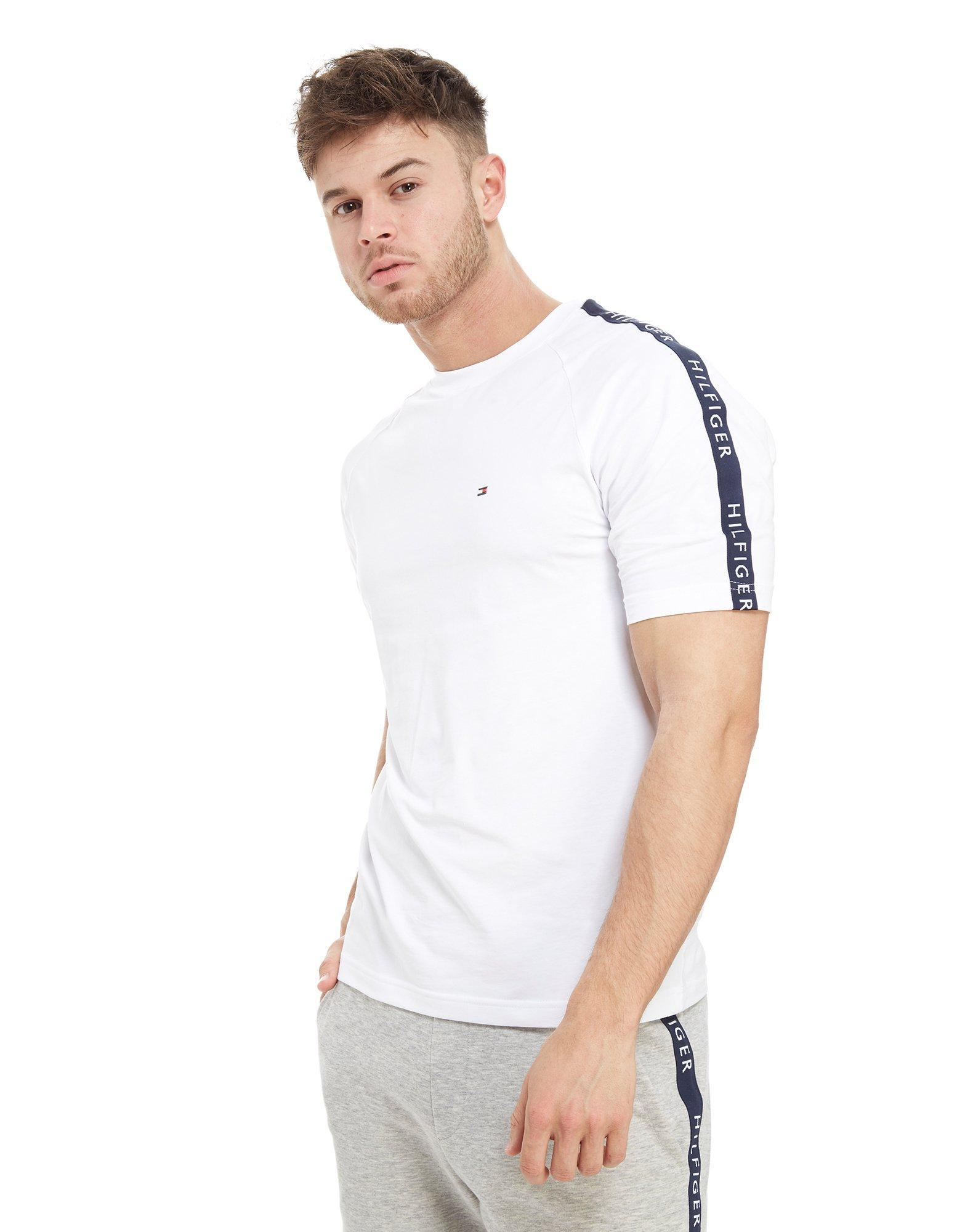 42b1504c Tommy Hilfiger Side Tape T-shirt in White for Men - Lyst