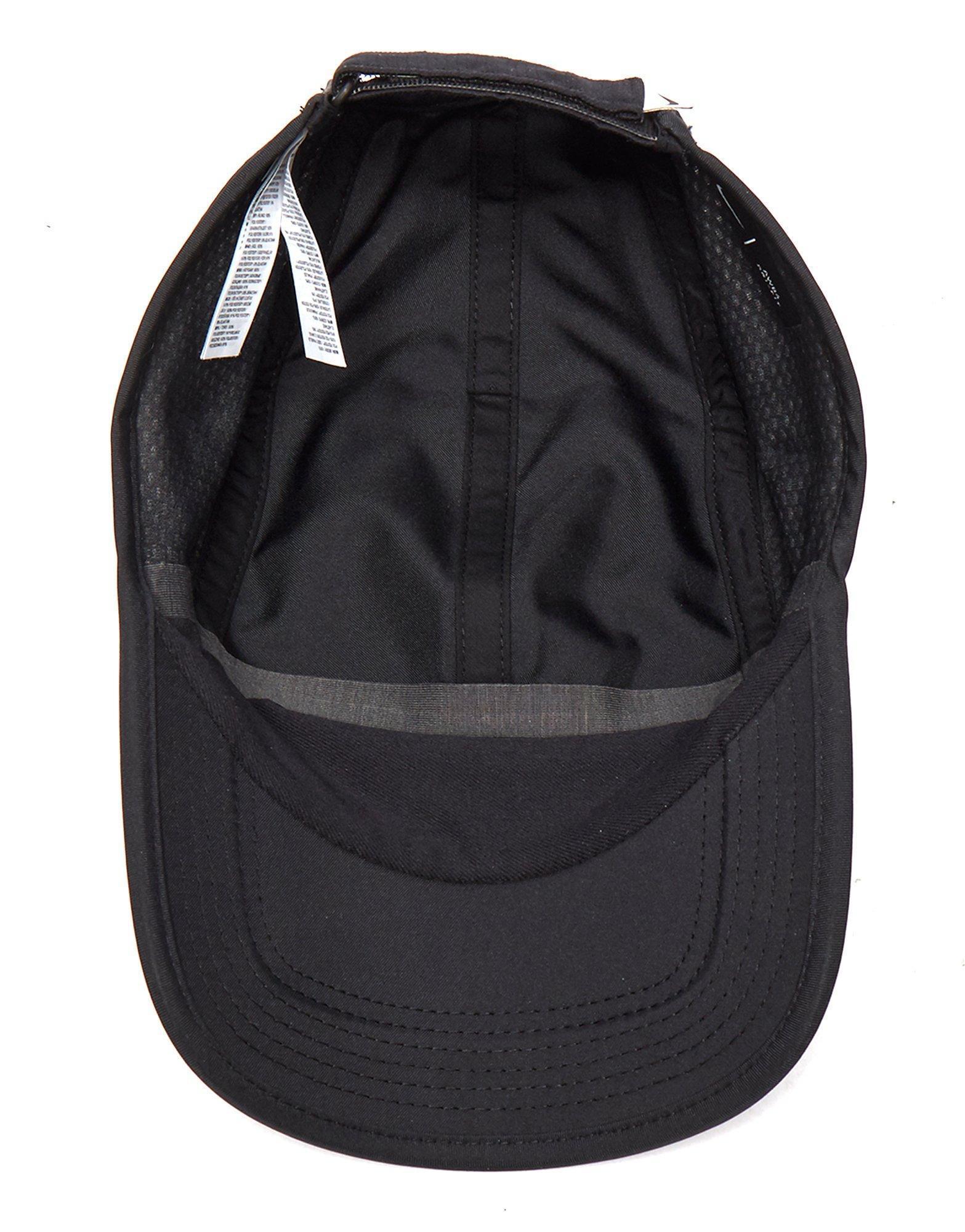 25b6ce0addc ... free shipping lyst nike run swoosh curved peak cap in black for men  26bf2 9ba11