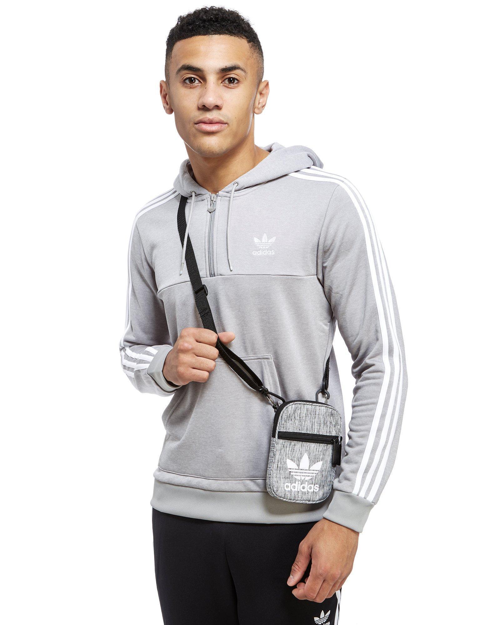 adidas Originals Trefoil Festival Bag in Gray for Men - Lyst d2997aed2d0aa