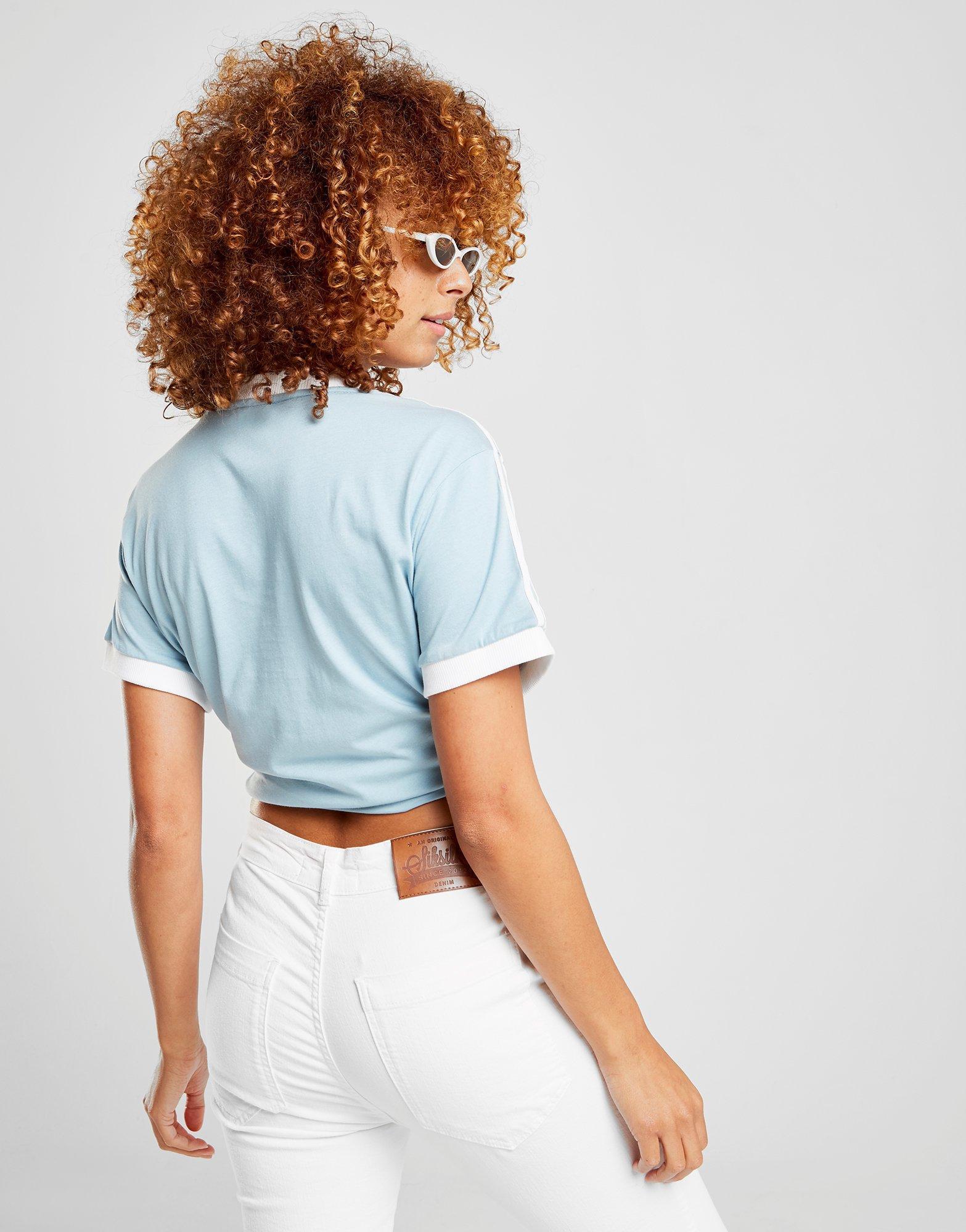 Lyst Adidas Originals 3 azul rayas camiseta de California rayas California en azul 3ecfc31 - colja.host