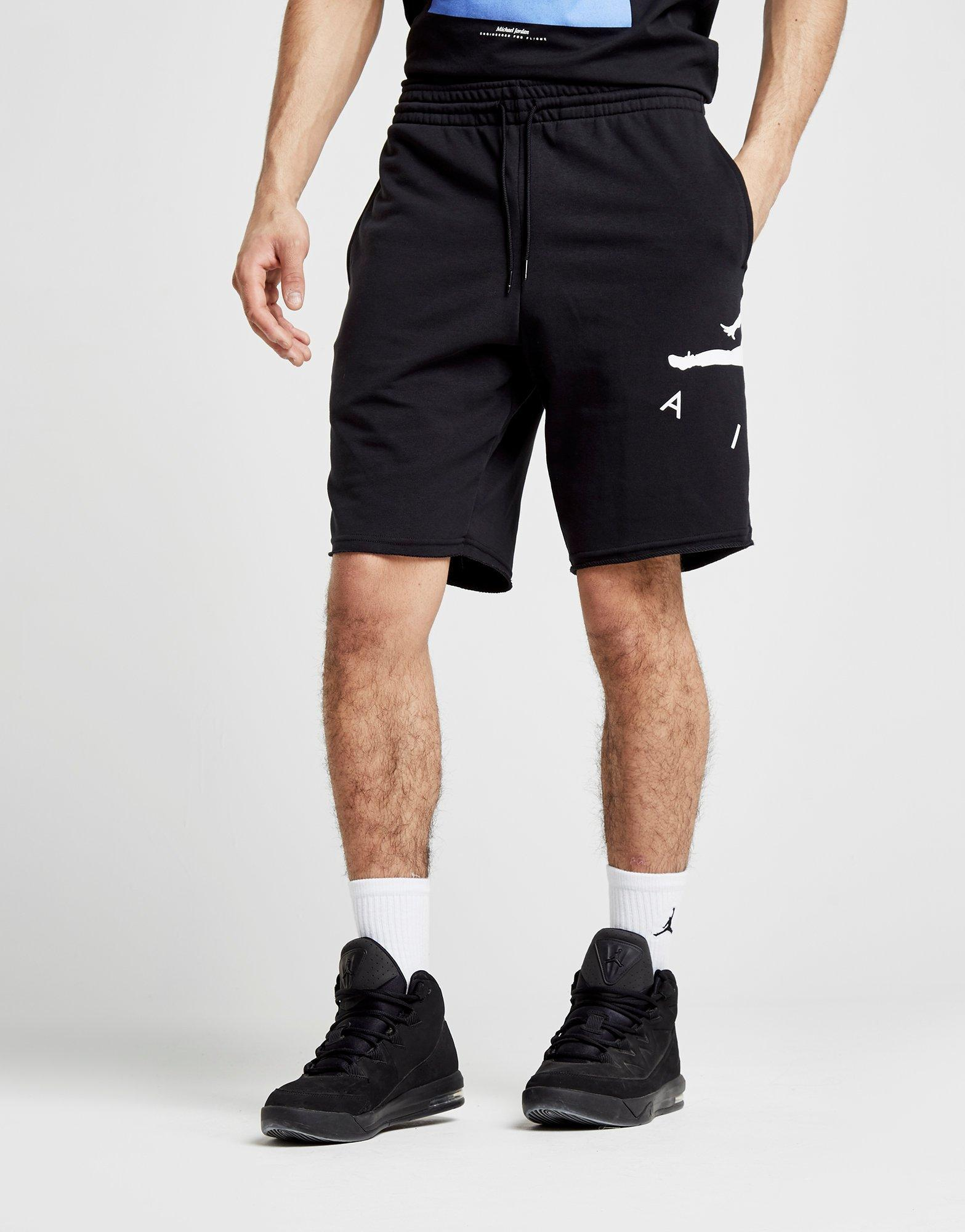 4299a225d046 Lyst - Nike Jumpman Air French Terry Shorts in Black for Men