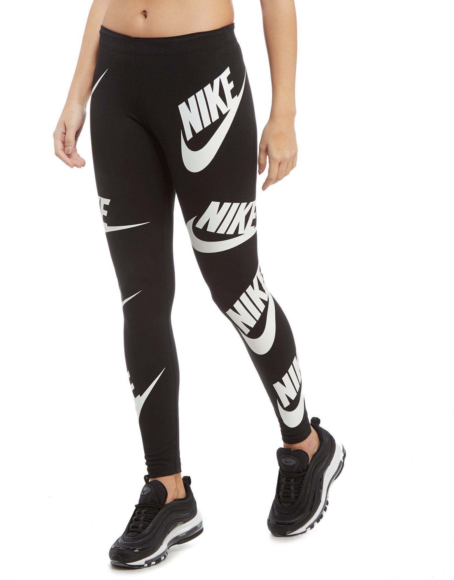 6eb445cff68eb Nike All Over Print Futura Leggings in Black - Lyst