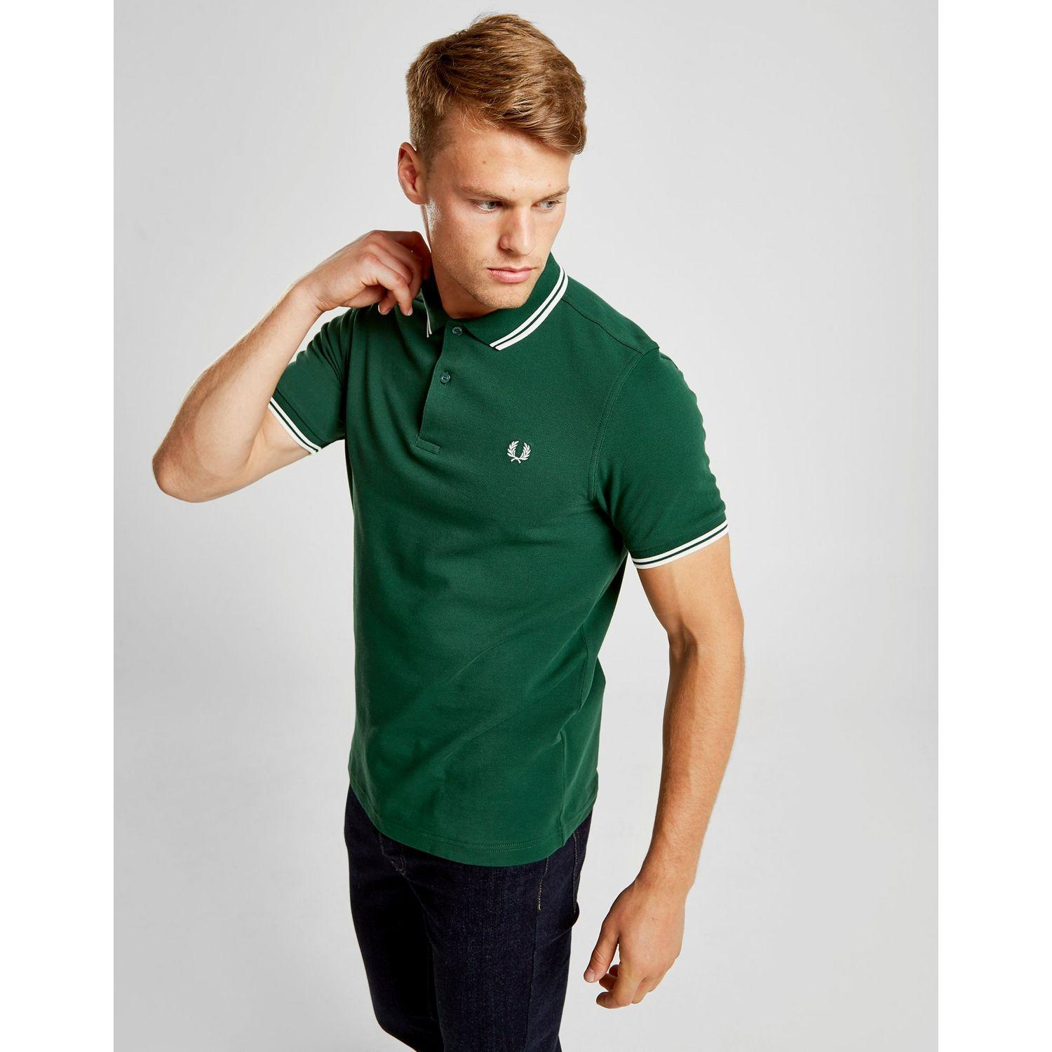 99926810 Lyst - Fred Perry Slim Twin Tipped Short Sleeve Polo Shirt in Green ...