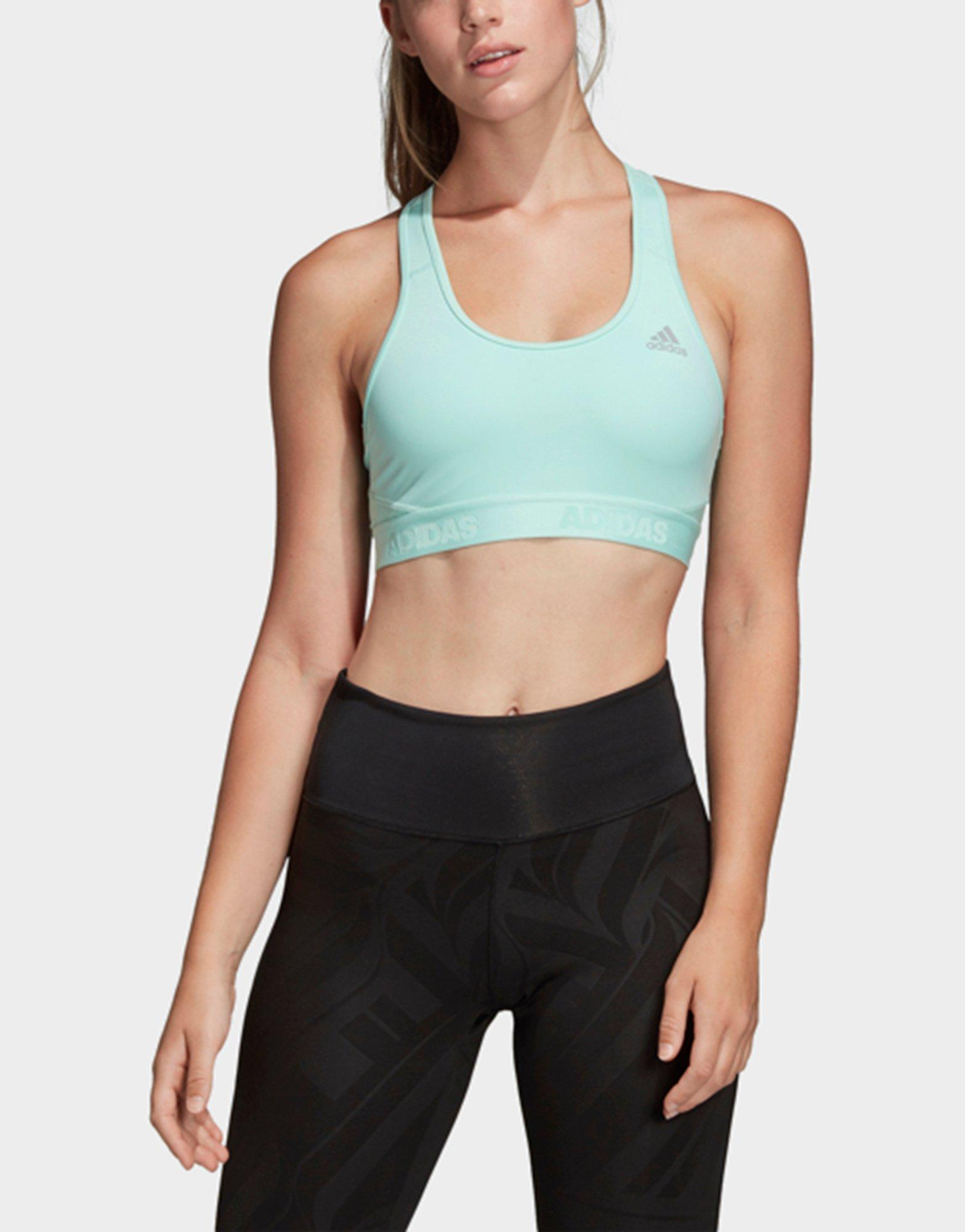 a6e7ee5a44133 Lyst - Adidas Don t Rest Alphaskin Sports Bra in Green