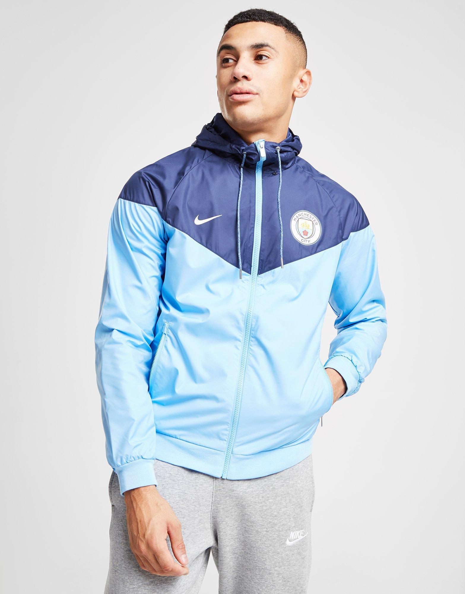 b6bea67110 Nike Manchester City Fc Windrunner Men s Jacket in Blue for Men - Lyst