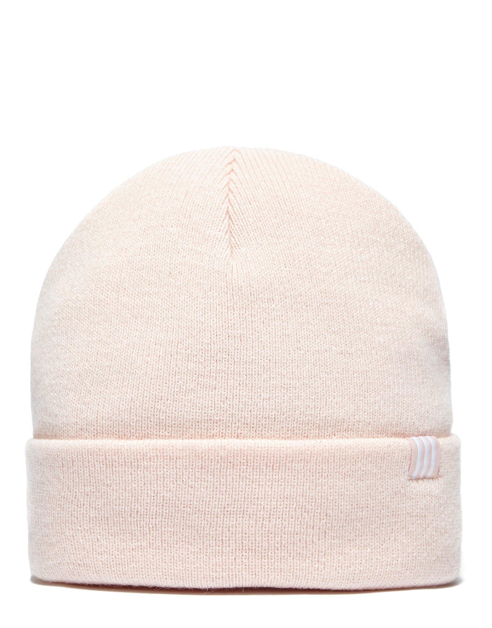 e500a0224b25e Lyst - adidas Originals Trefoil Beanie Hat in Pink for Men