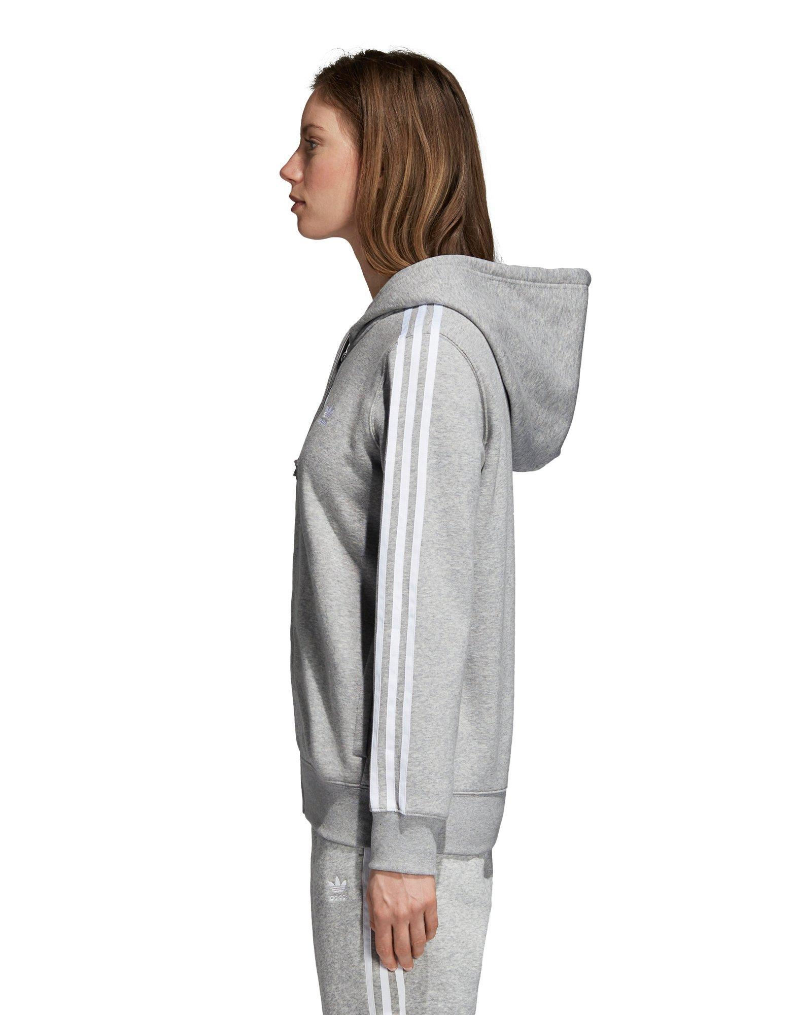 23a07be92b4b Lyst - Adidas 3-stripes Zip Hoodie in Gray