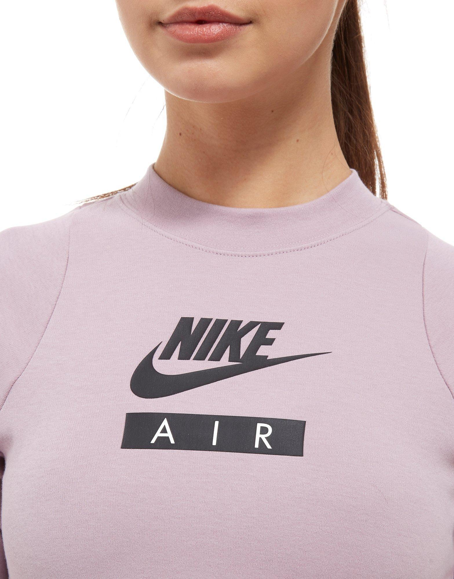 f6b34ef95bab3c Nike Air Long Sleeve Crop Top in Pink - Lyst