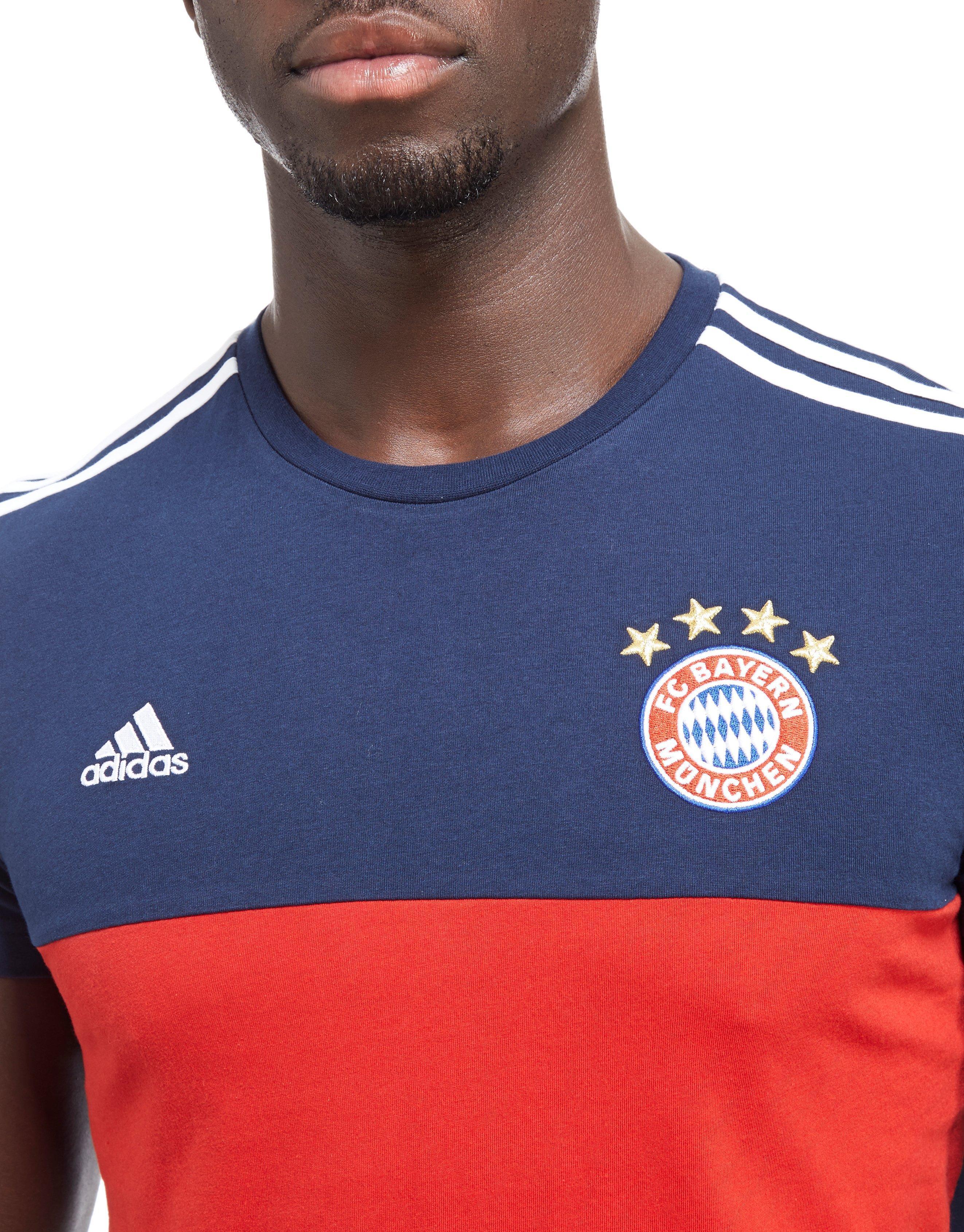 9e7c182ce2f Lyst - adidas Fc Bayern Munich 3-stripes T-shirt in Blue for Men