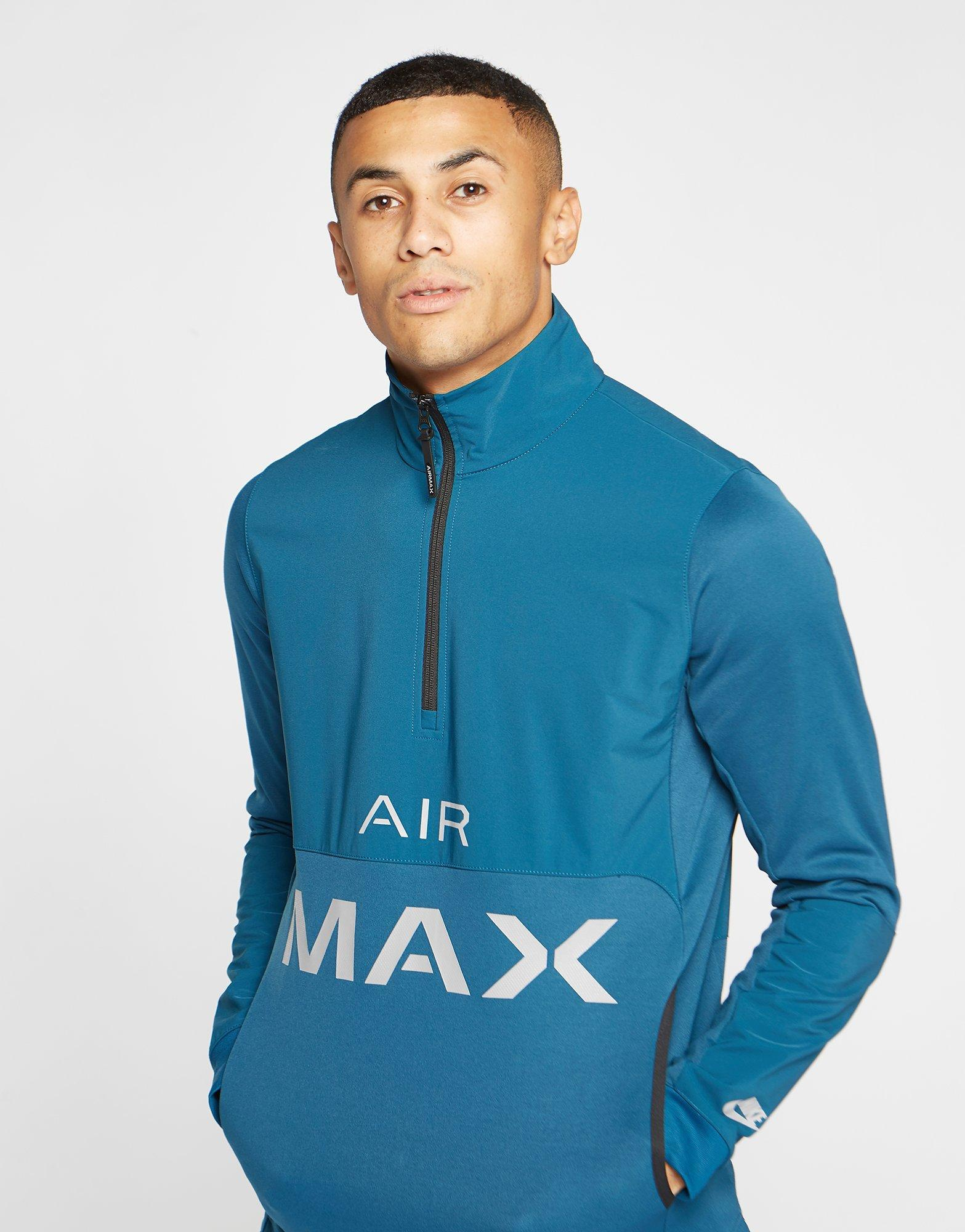 34c215abd1 Lyst - Nike Air Max Poly 1 2 Zip Sweatshirt in Blue for Men