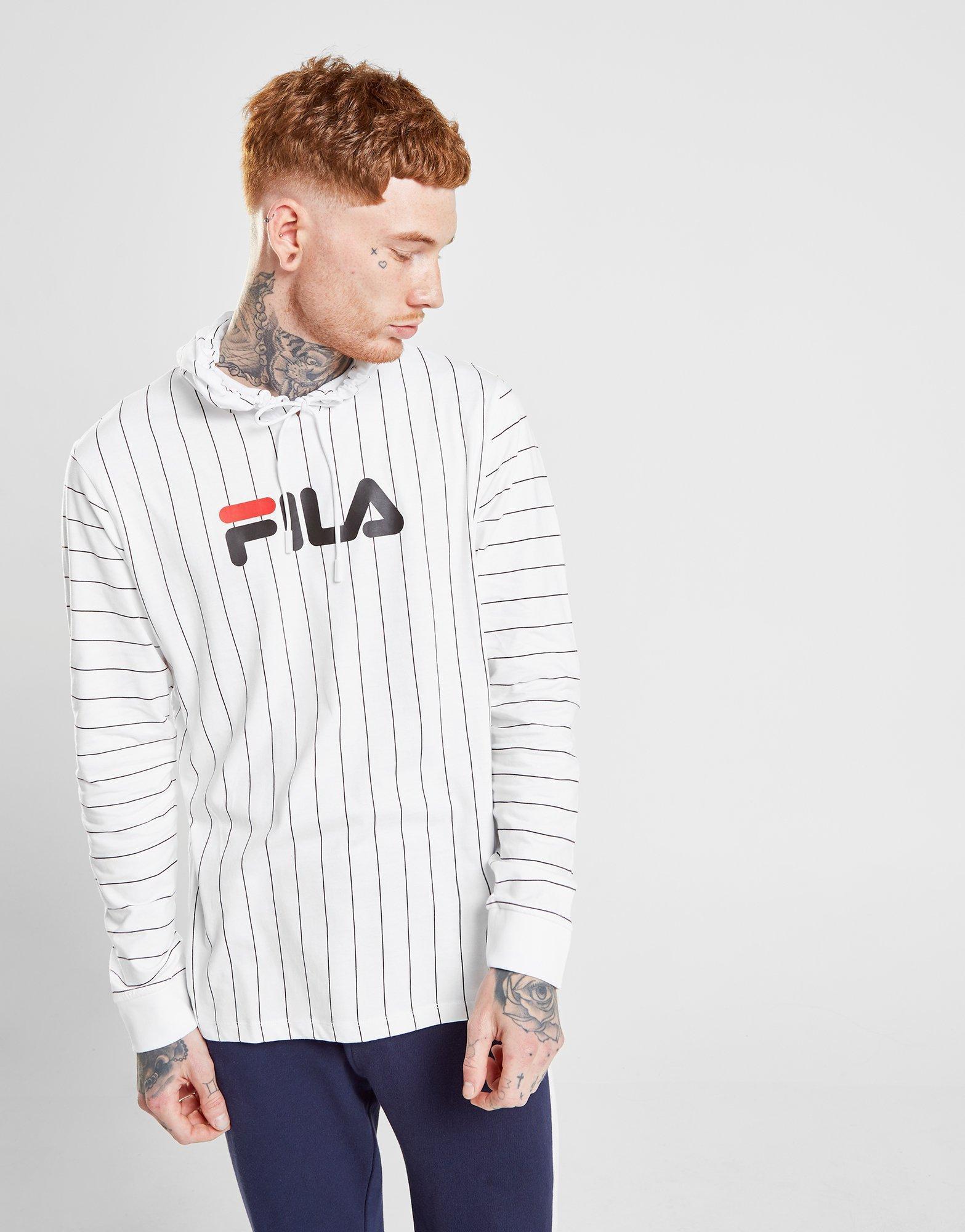 23135882aff Fila Mario Long Sleeve T-shirt in White for Men - Lyst