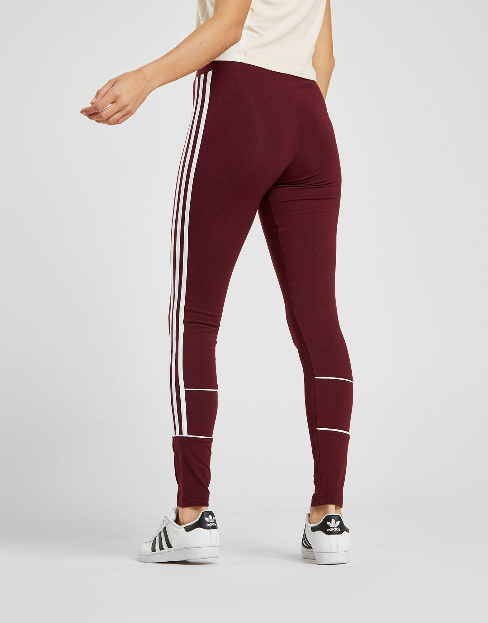 bce6947dc Lyst - adidas Originals 3-stripes Piping Leggings in Red