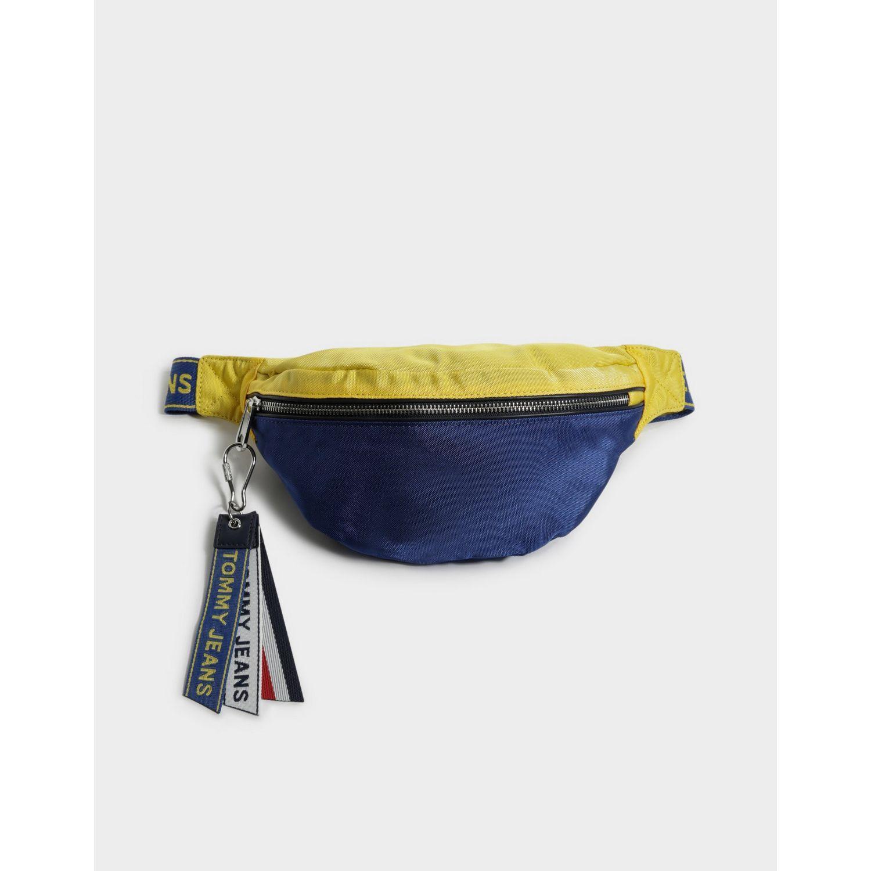 140e29f4714 Tommy Hilfiger Logo Tape Crossbody Bag in Blue for Men - Lyst