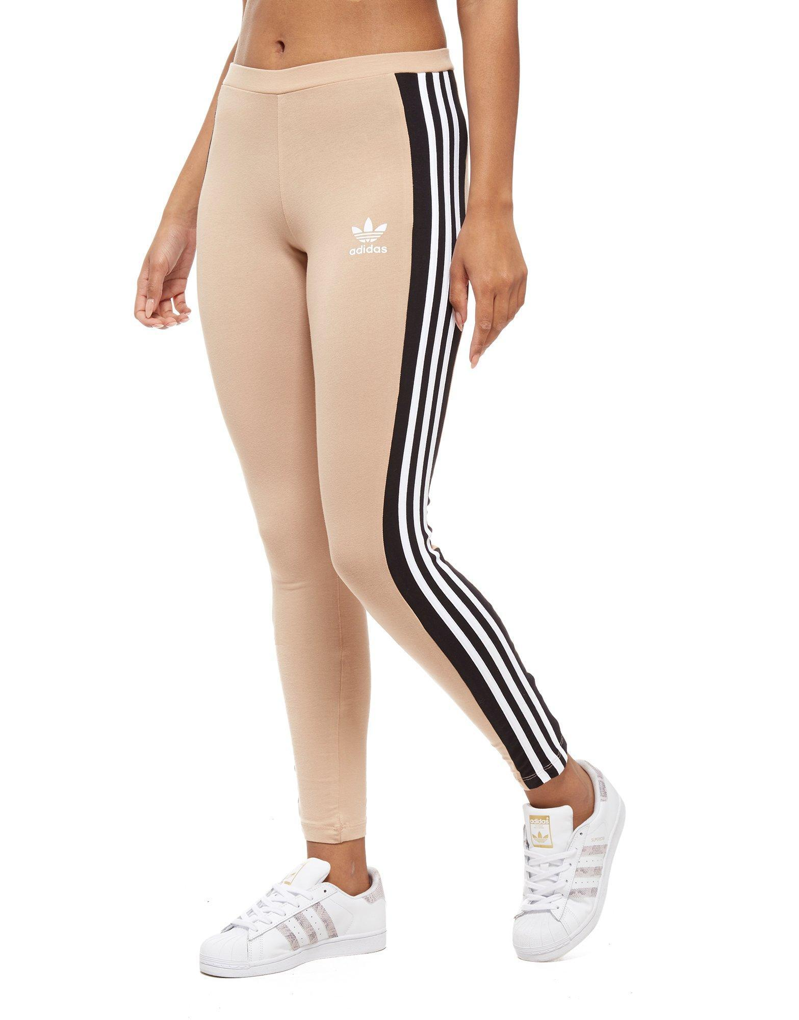 c9df9b3df65 adidas Originals 3-stripes Panel Leggings in Black - Lyst