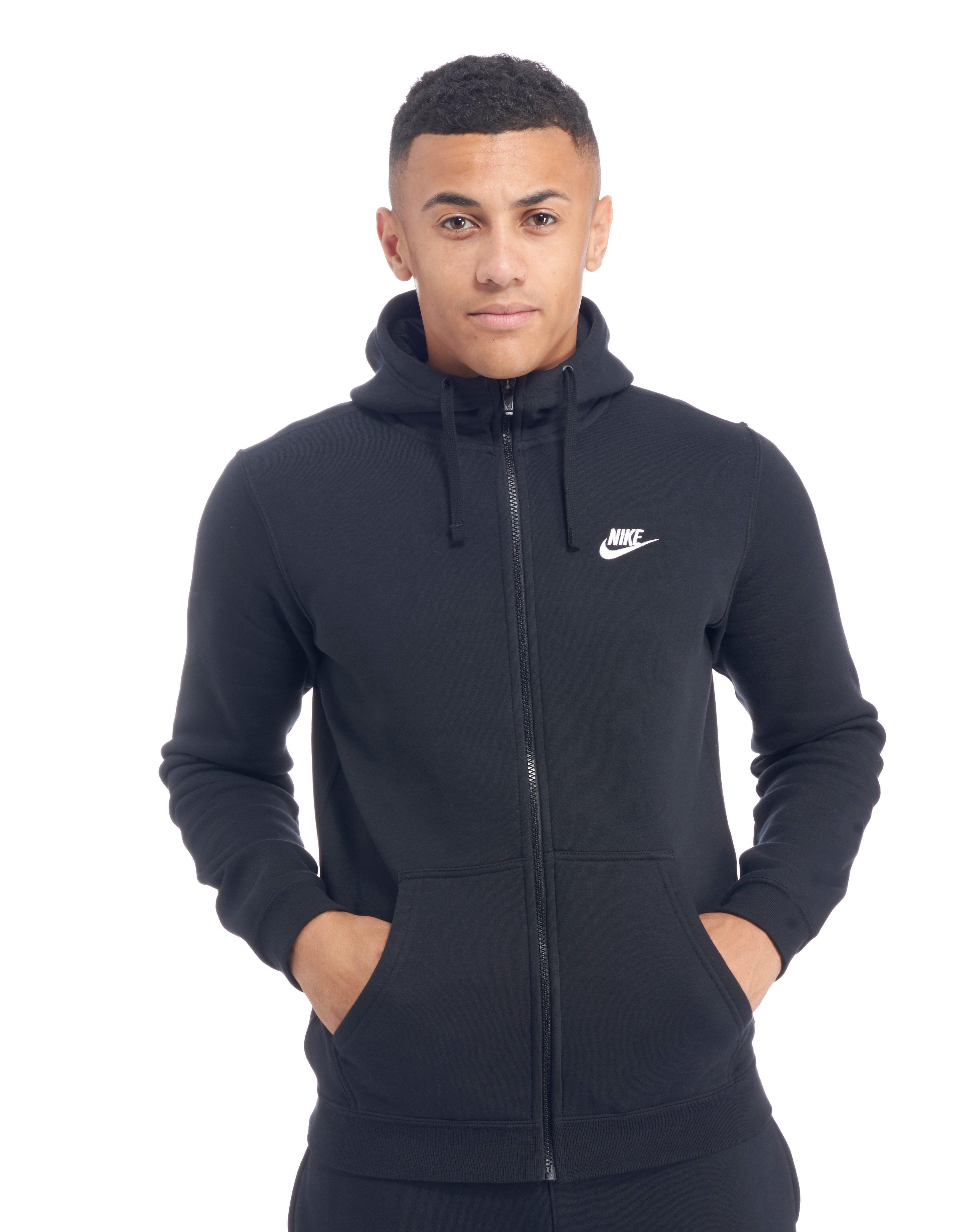 Nike. Men's Black Foundation Fleece Full Zip Hoody