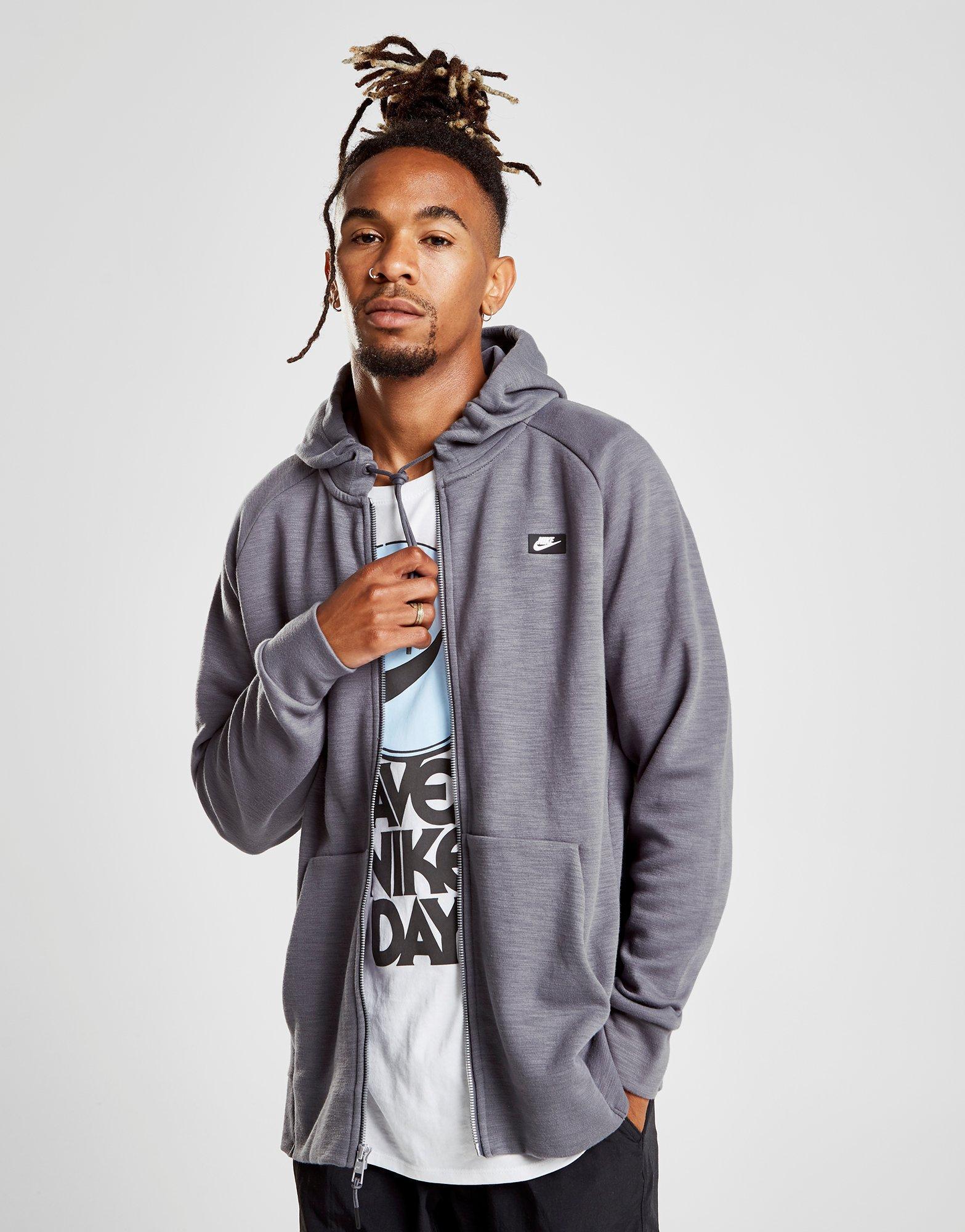 cbb4fc51f7a7 Nike Optic Full Zip Hoodie in Gray for Men - Lyst