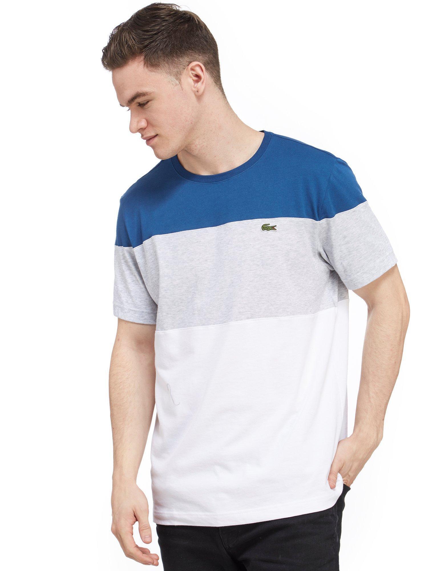 f1103eeb Lacoste Colour Block T-shirt for Men - Lyst