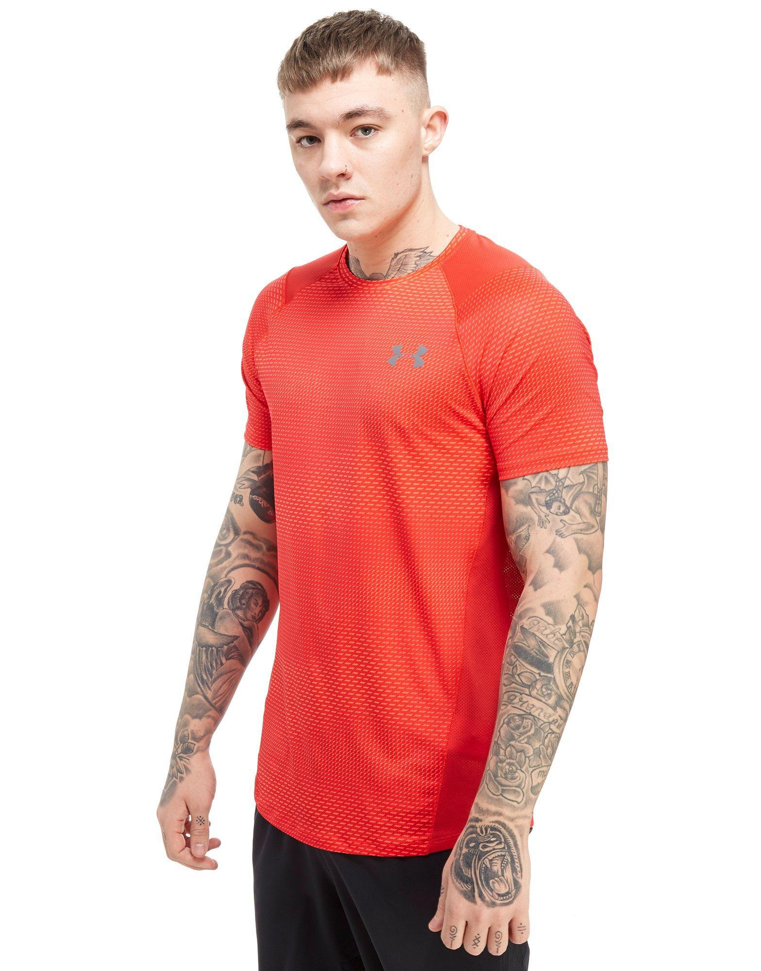 43b64225 Under Armour Raid Print T-shirt in Red for Men - Lyst