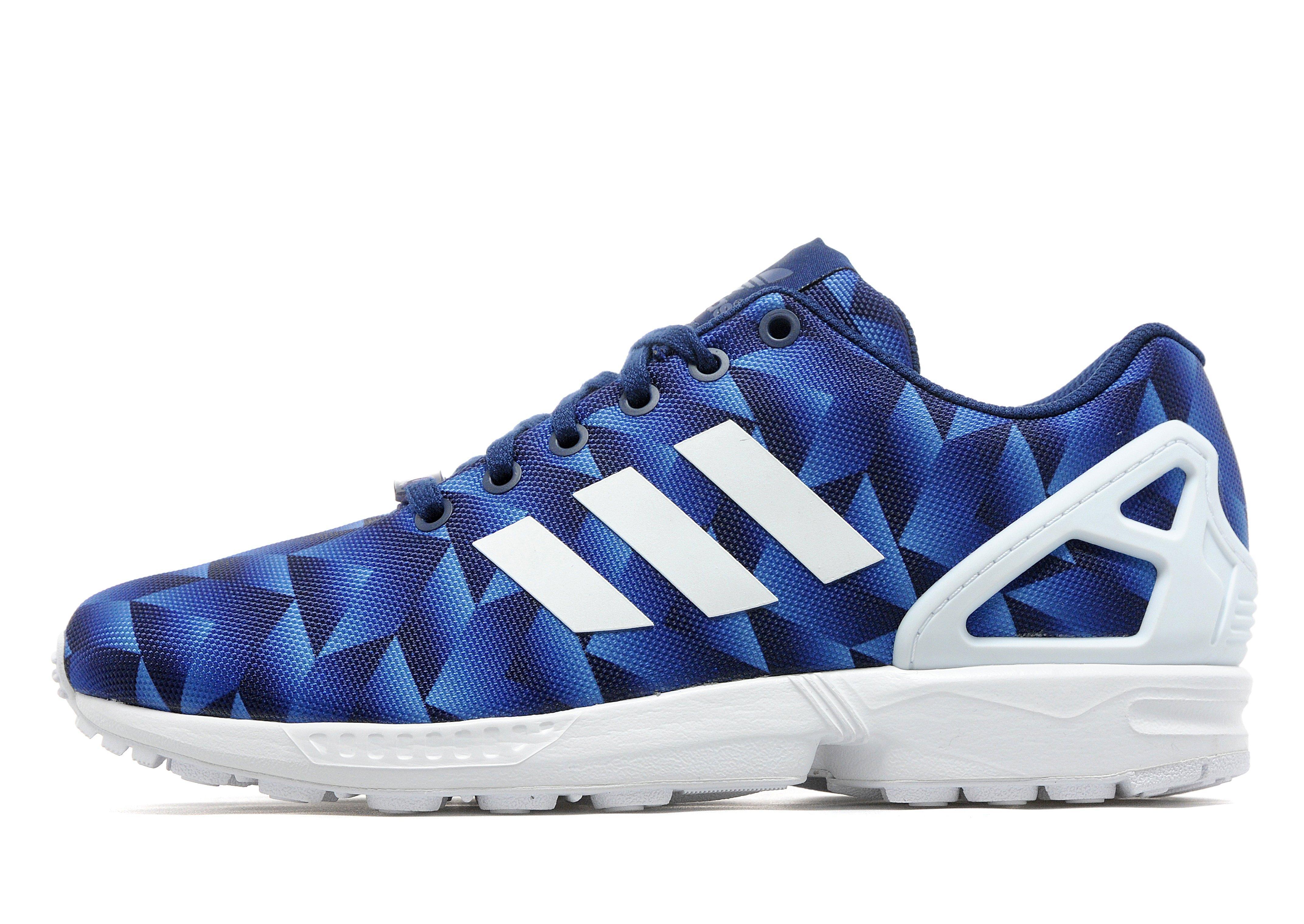 03802fafc083 Lyst - adidas Originals Zx Flux Print in Blue for Men